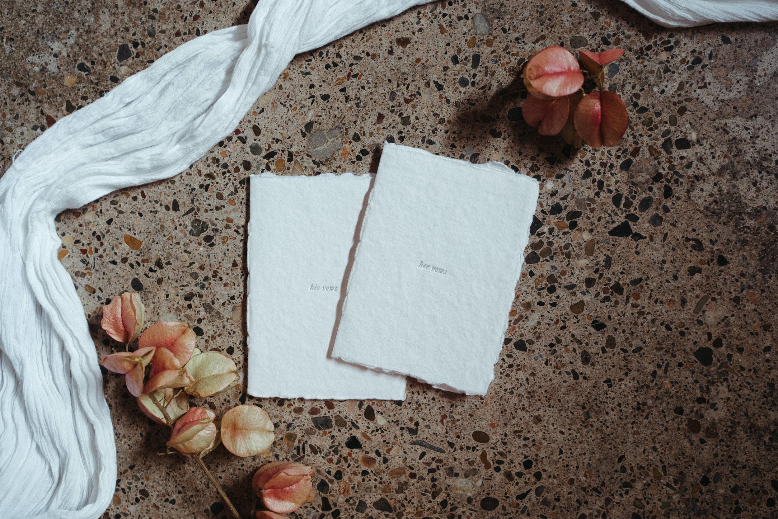 The Line Letterpress vow books - The Lushington Brisbane - Ephemeral Creative