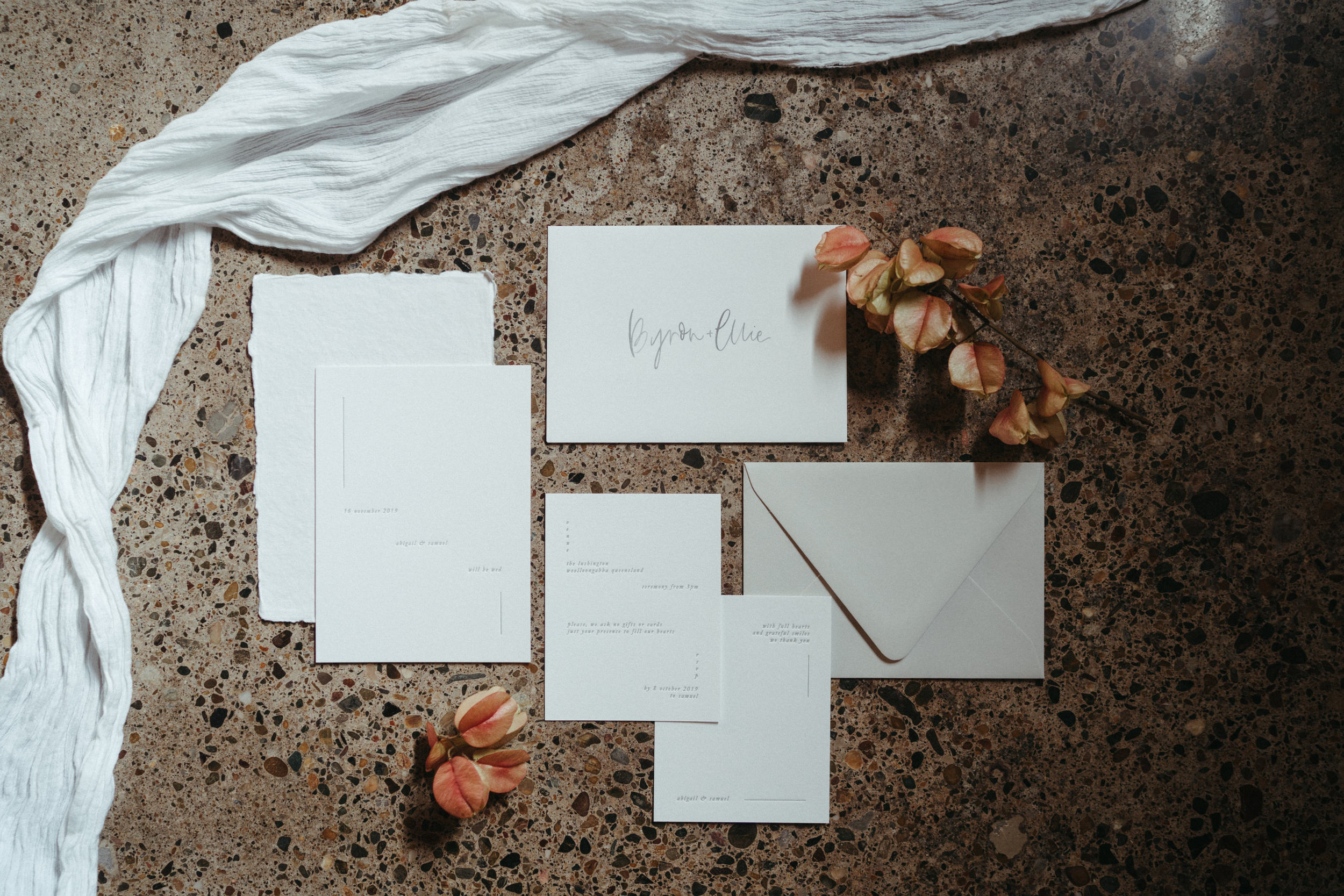 The Lushington Brisbane - Ephemeral Creative - The Line Press invitation suite