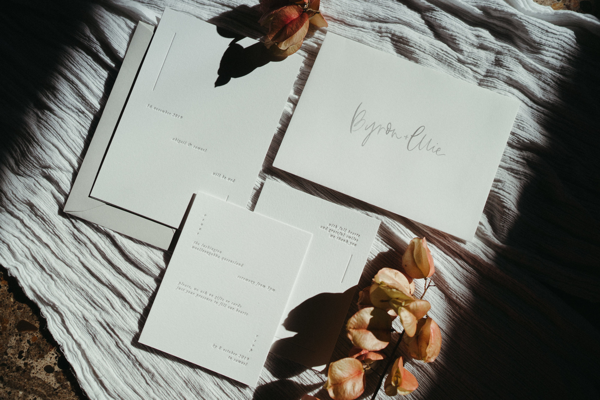 The Lushington Brisbane - Ephemeral Creative - The Line Letterpress stationary