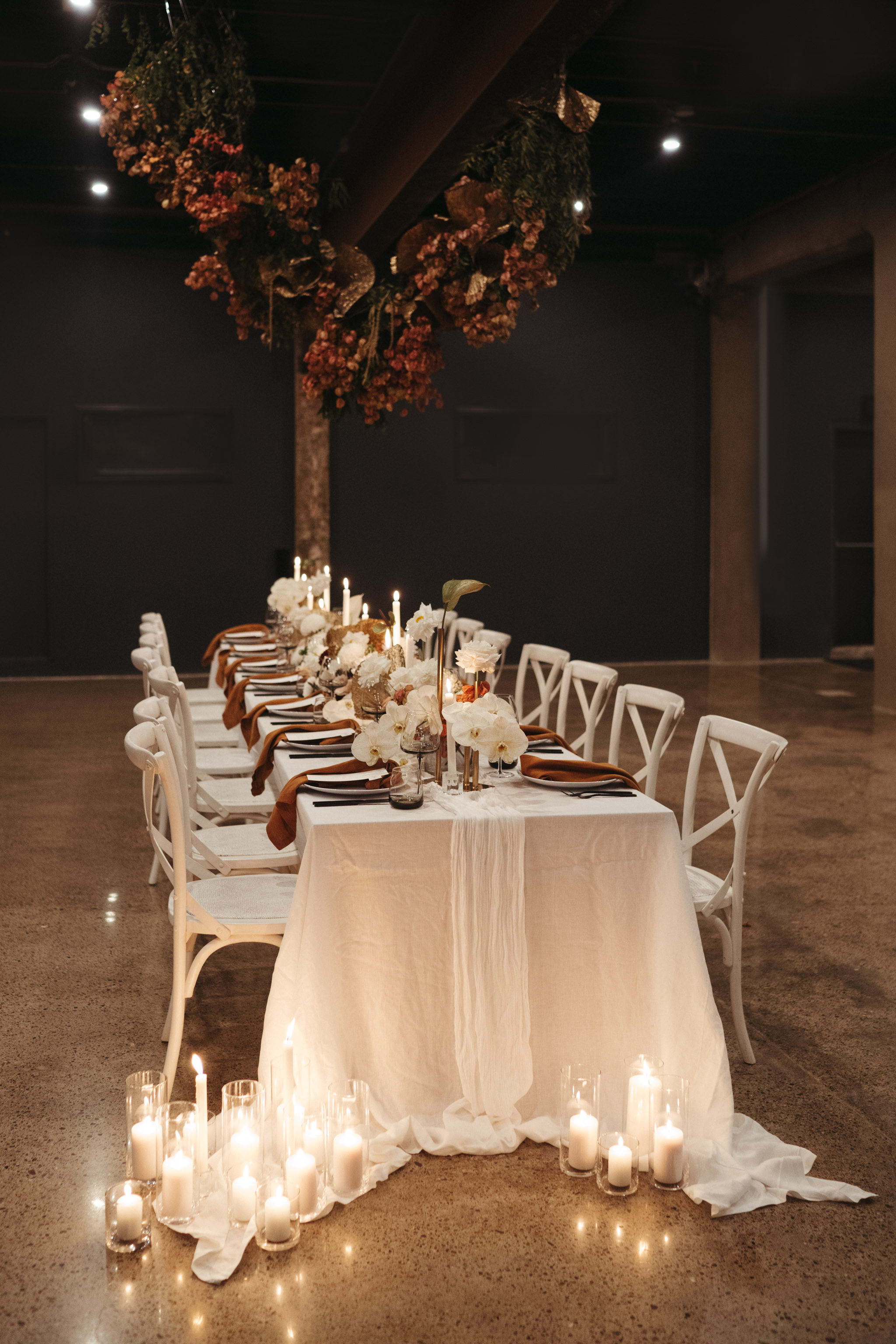 The Lushington Brisbane - Ephemeral Creative - Autumn dinner reception