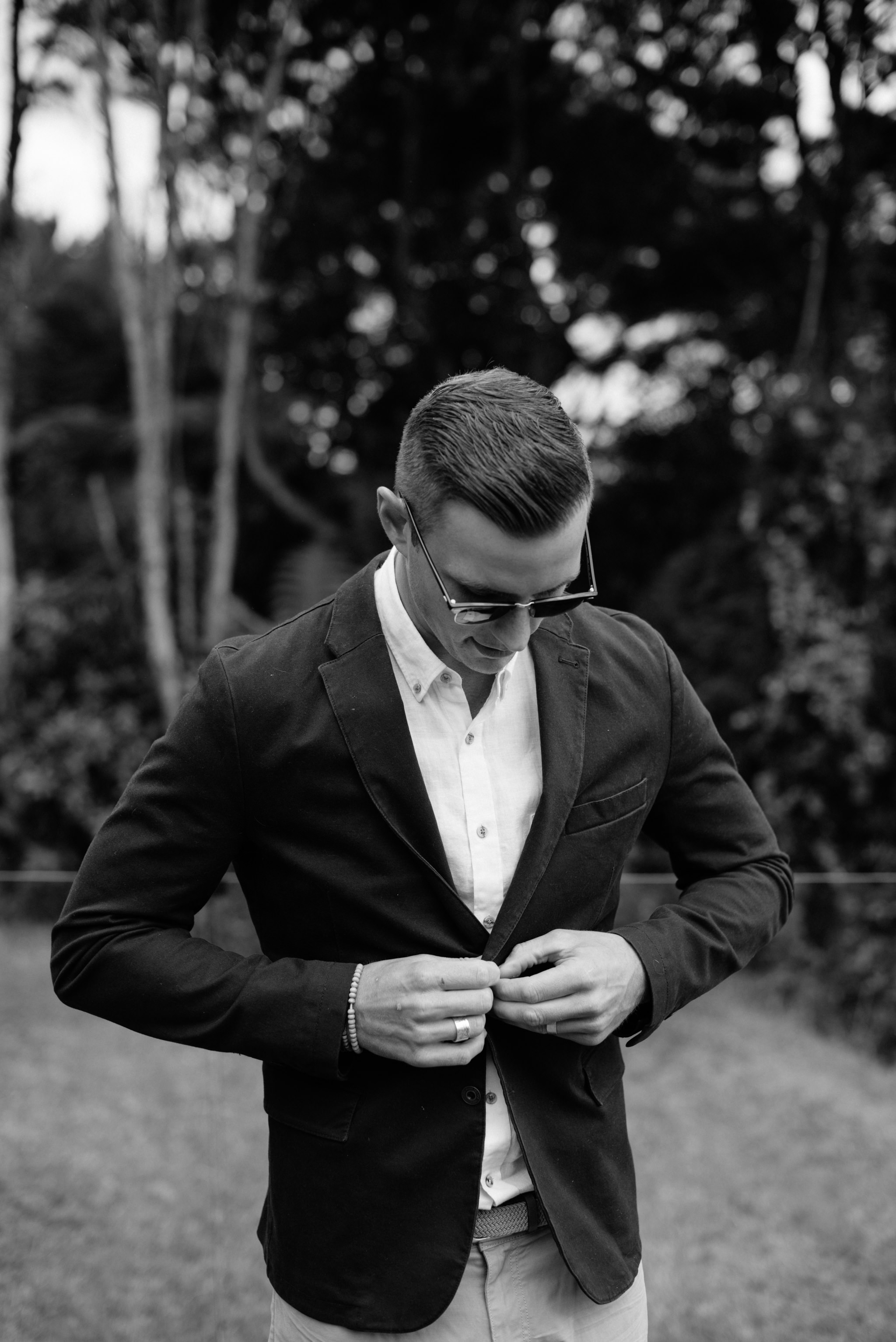 Josie and Ryan EPHEMERAL CREATIVE Jonkers Farm New Zealand Wedding groom getting ready