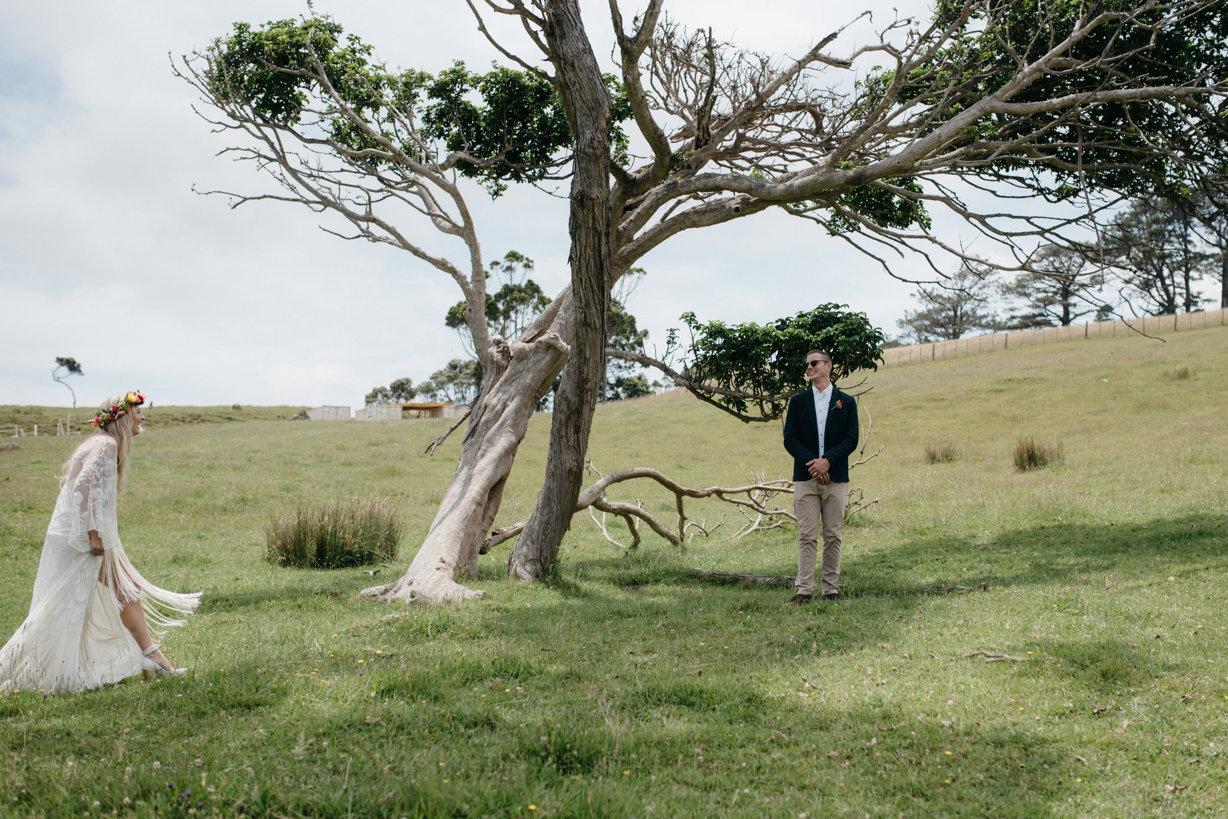 Josie and Ryan EPHEMERAL CREATIVE Jonkers Farm New Zealand Wedding outdoor first look