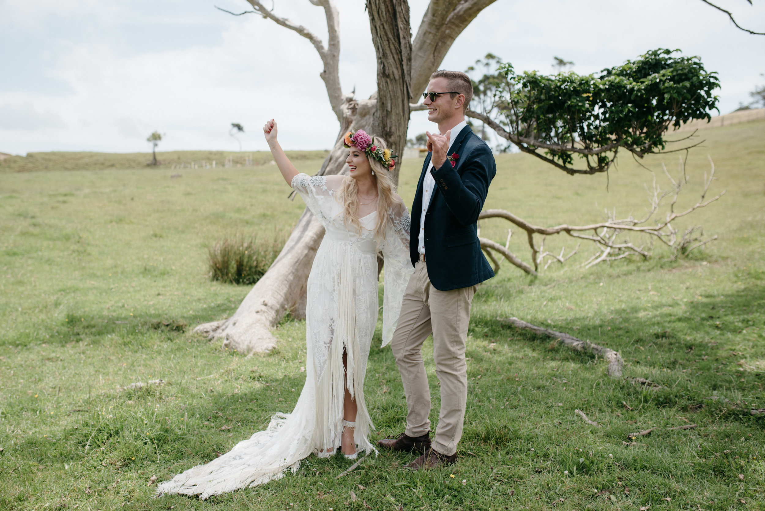 Josie and Ryan EPHEMERAL CREATIVE Jonkers Farm New Zealand Wedding bride and groom