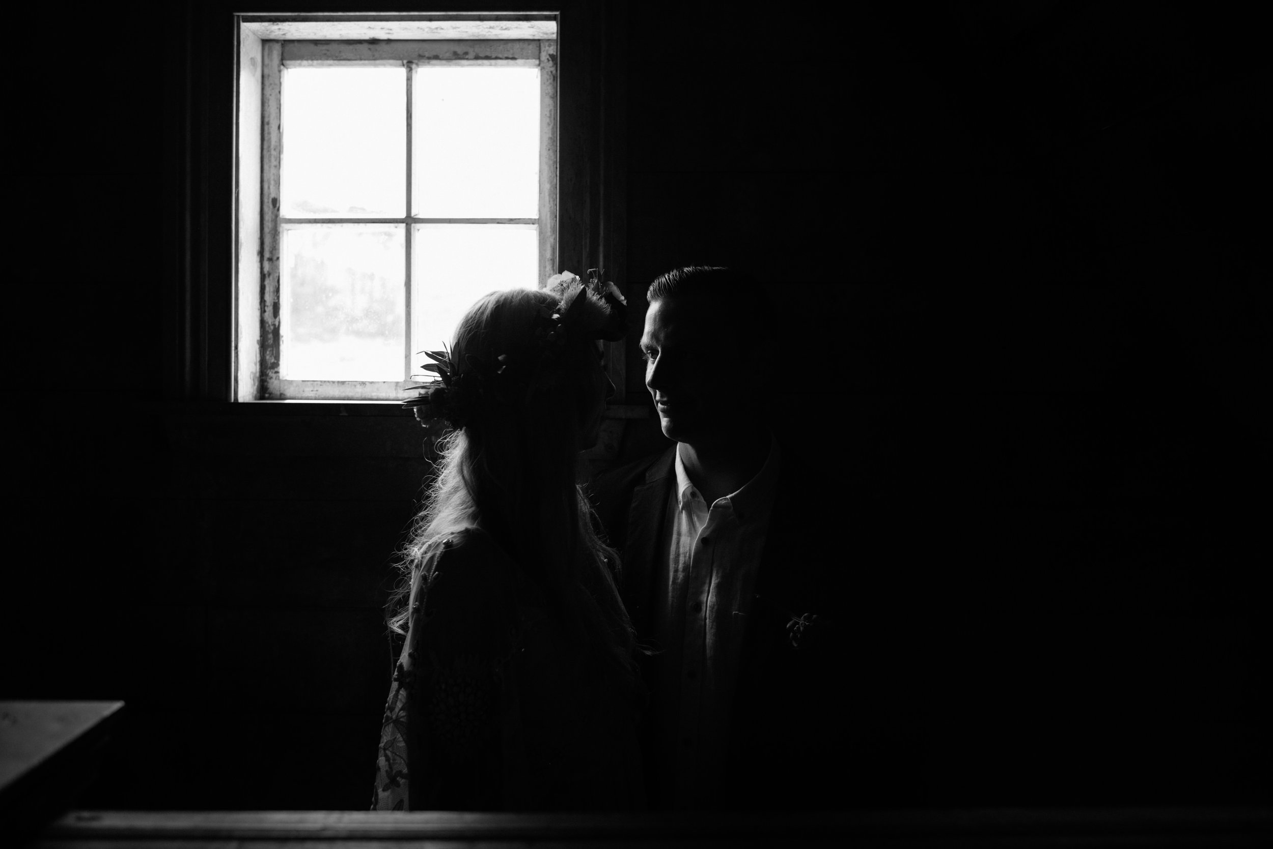 Josie and Ryan EPHEMERAL CREATIVE Jonkers Farm New Zealand Wedding moody portrait