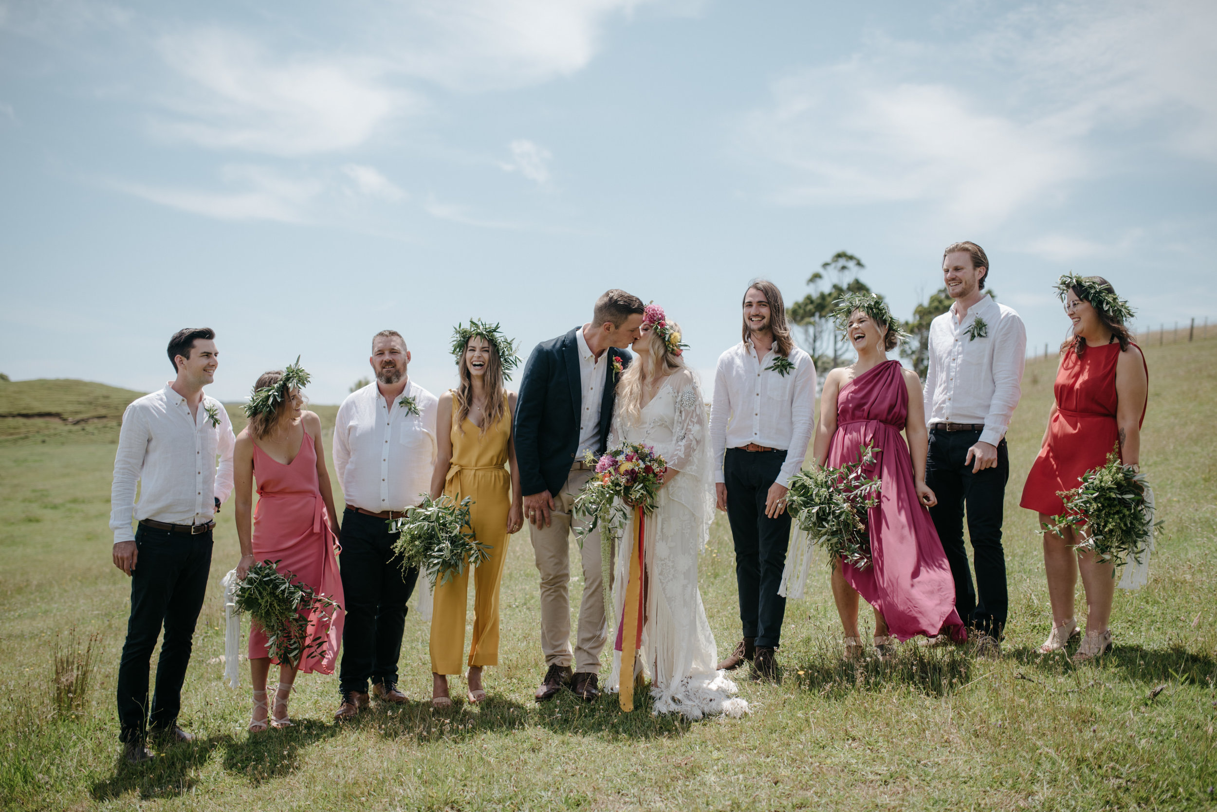 Josie and Ryan EPHEMERAL CREATIVE Jonkers Farm New Zealand Wedding bridal party