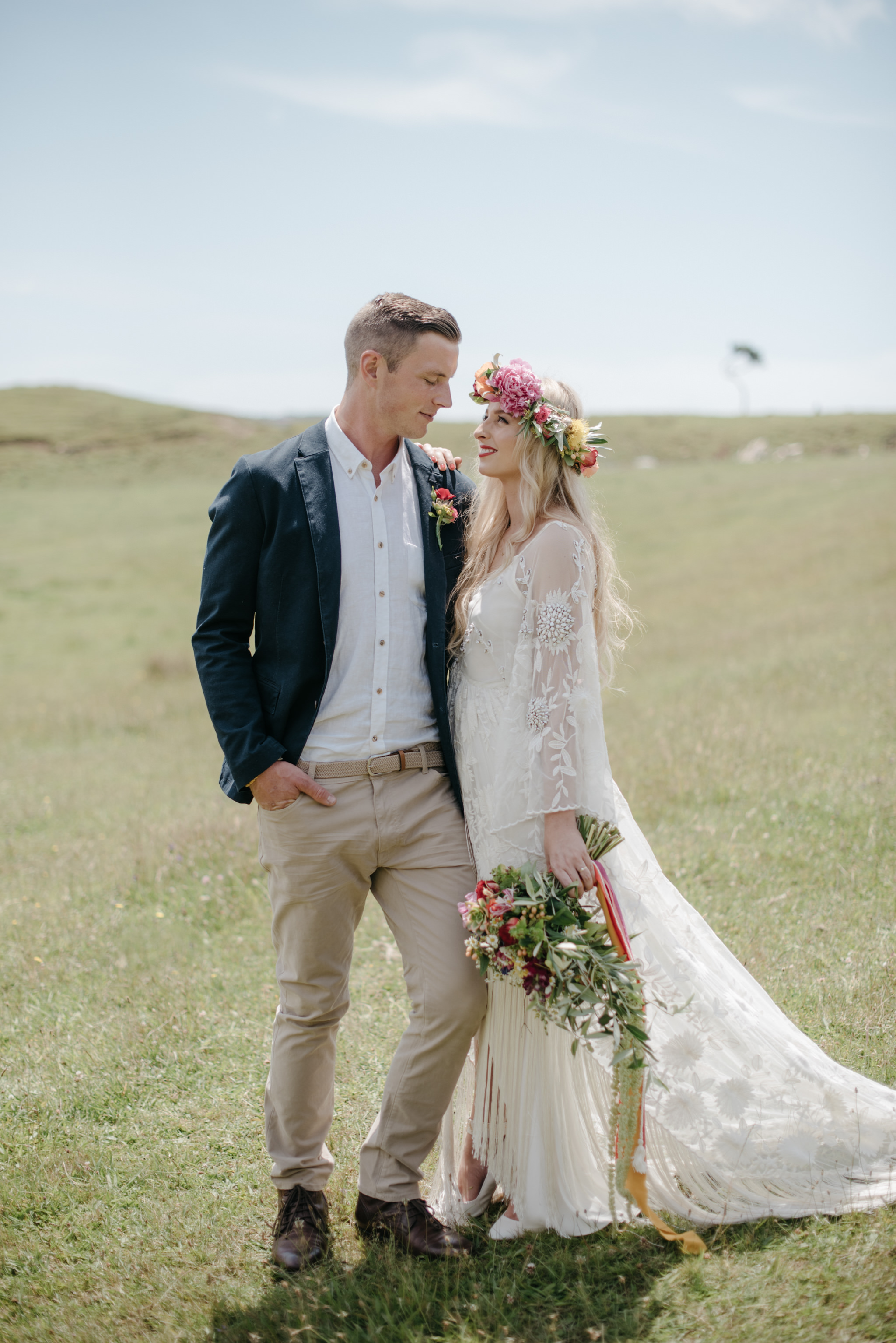 Josie and Ryan EPHEMERAL CREATIVE Jonkers Farm New Zealand Wedding bohemian bride and groom
