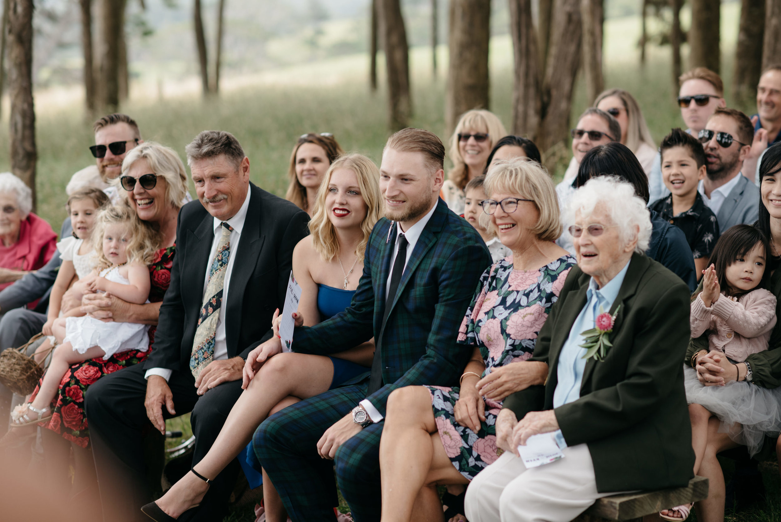 Josie and Ryan EPHEMERAL CREATIVE Jonkers Farm New Zealand Wedding ceremony guests