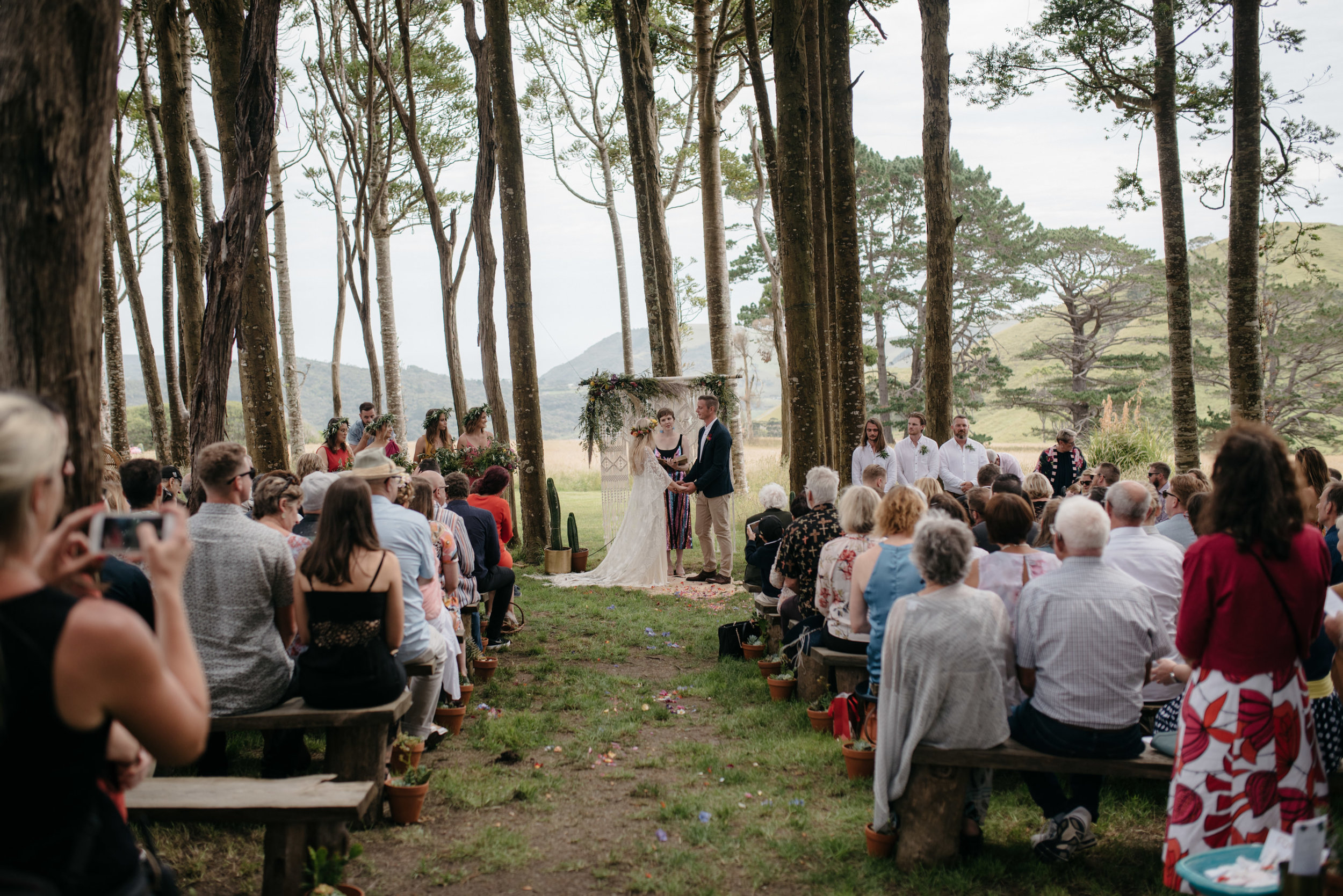 Josie and Ryan EPHEMERAL CREATIVE Jonkers Farm New Zealand Wedding woodland ceremony