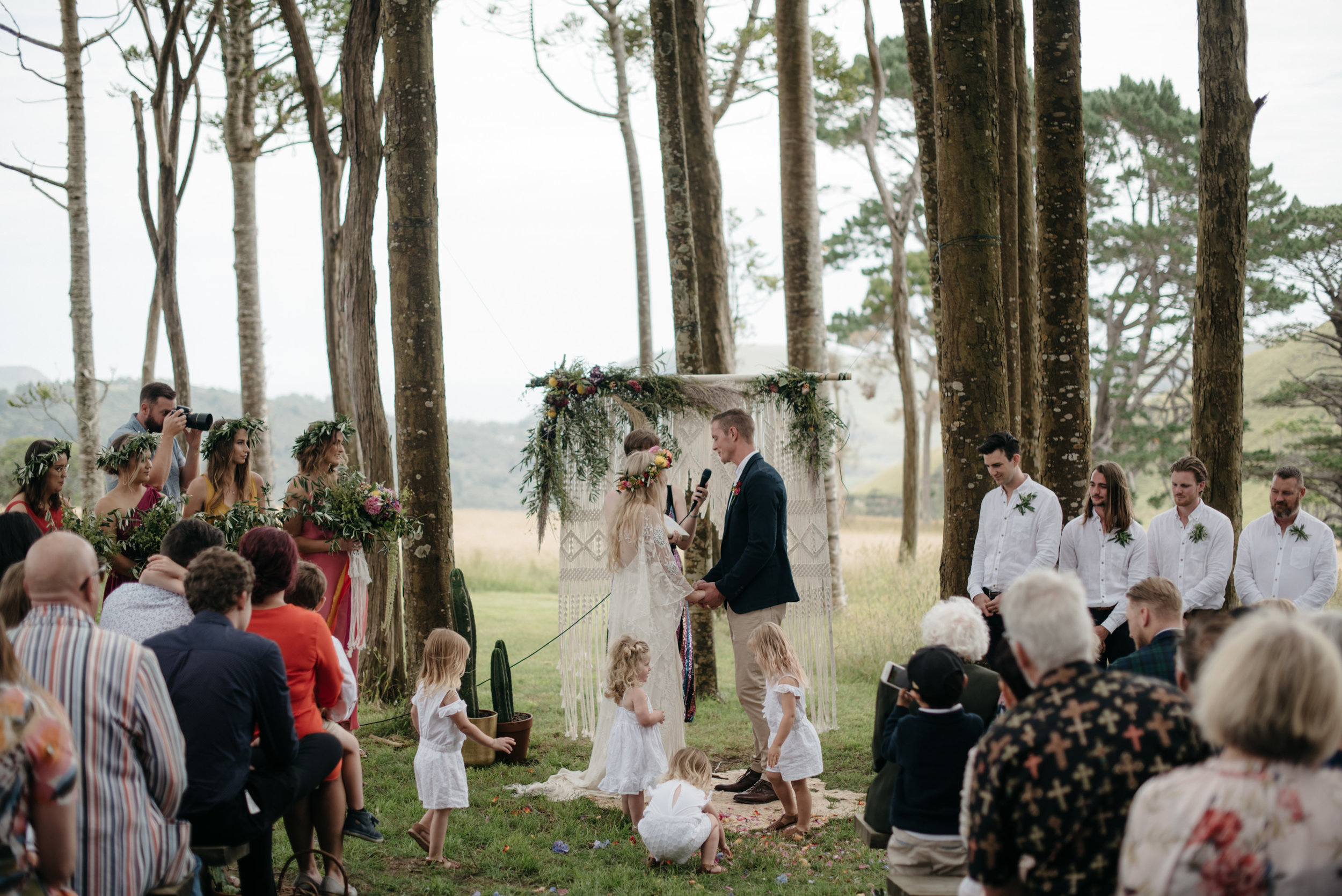 Josie and Ryan EPHEMERAL CREATIVE Jonkers Farm New Zealand Wedding ceremony
