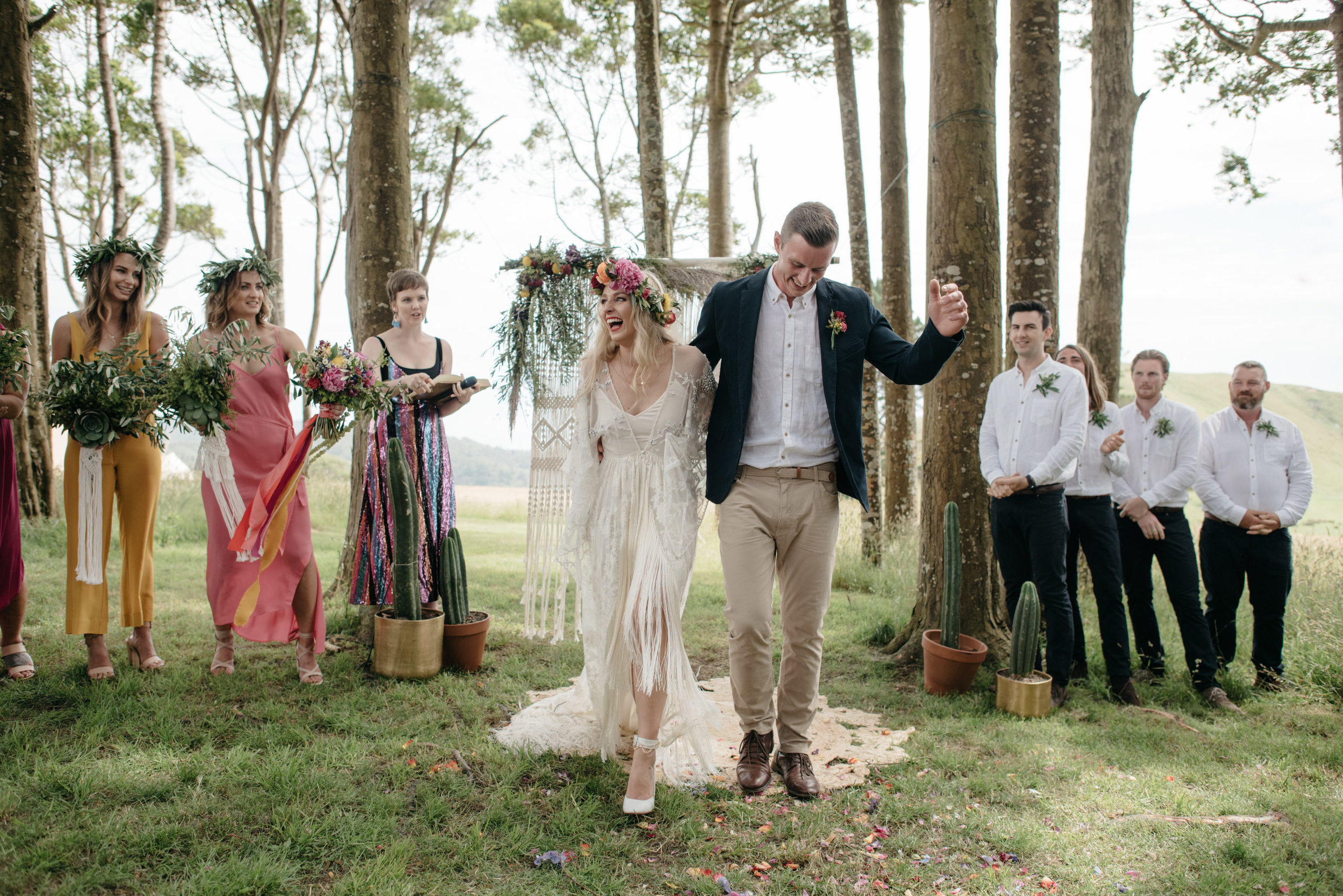 Josie and Ryan EPHEMERAL CREATIVE Jonkers Farm New Zealand Wedding husband and wife