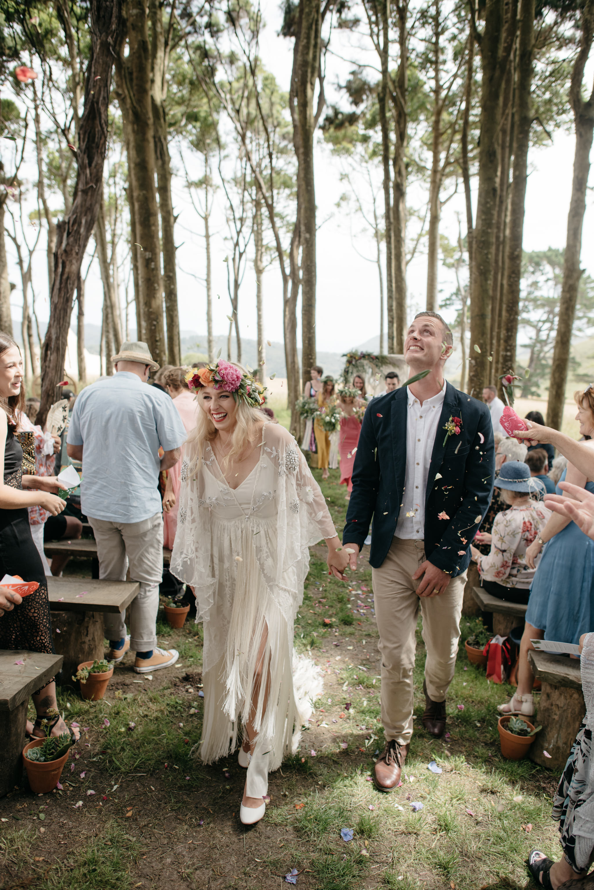 Josie and Ryan EPHEMERAL CREATIVE Jonkers Farm New Zealand Wedding petal confetti