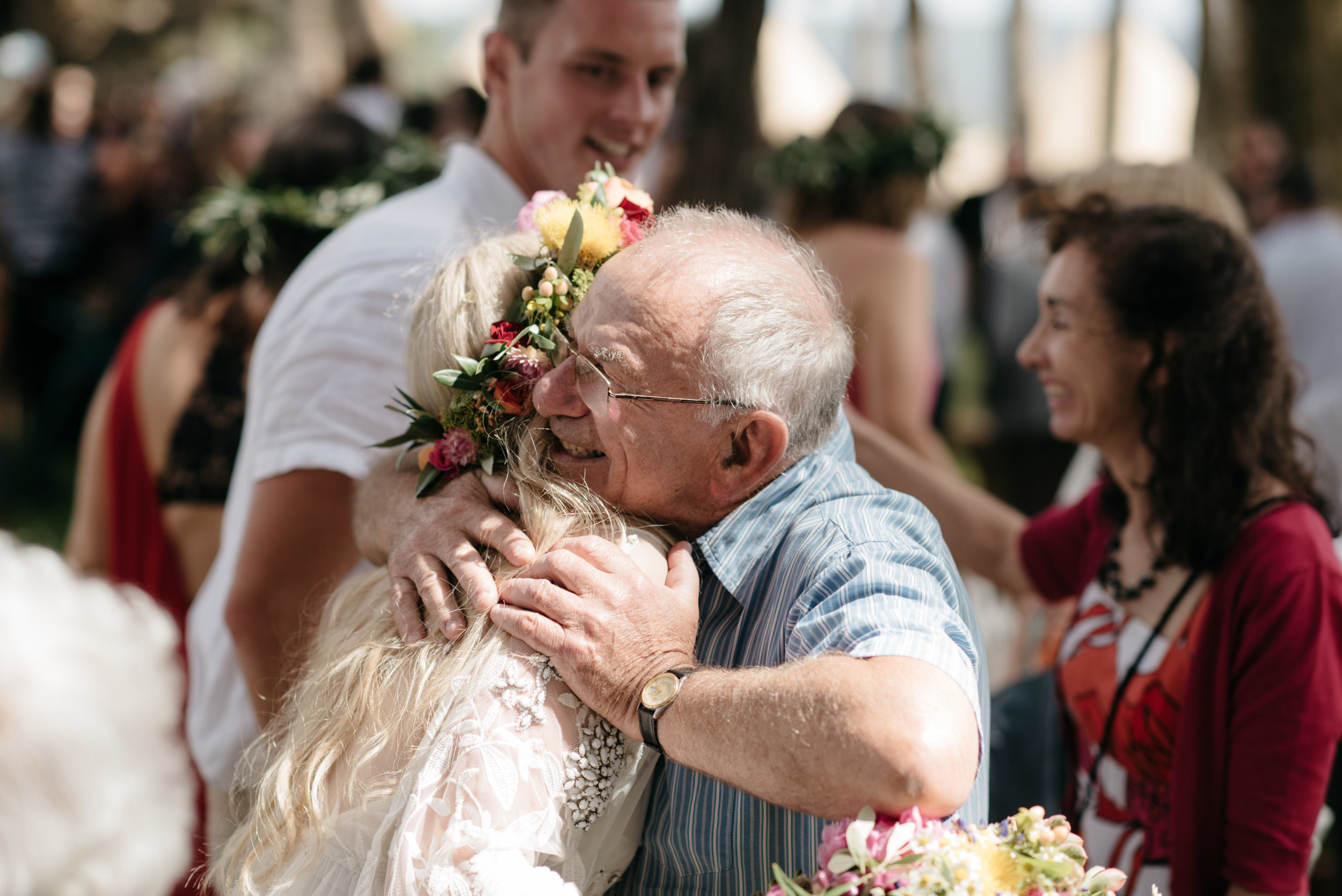 Josie and Ryan EPHEMERAL CREATIVE Jonkers Farm New Zealand Wedding hug