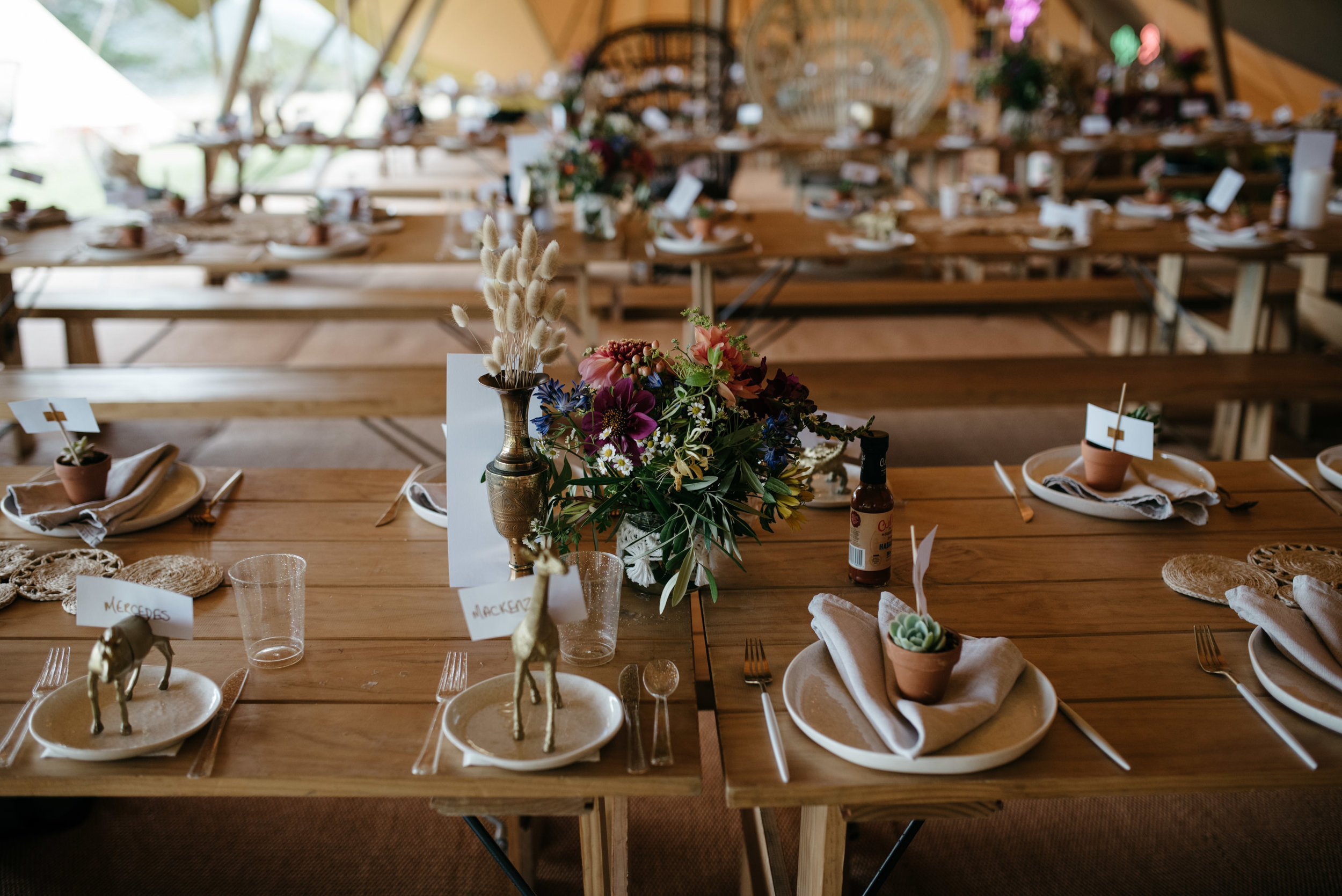 Josie and Ryan EPHEMERAL CREATIVE Jonkers Farm New Zealand Wedding Mexican wedding table