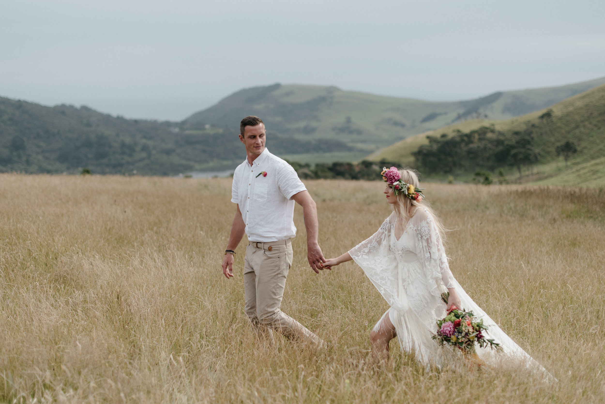 Josie and Ryan EPHEMERAL CREATIVE Jonkers Farm New Zealand Wedding adventure bride and couple