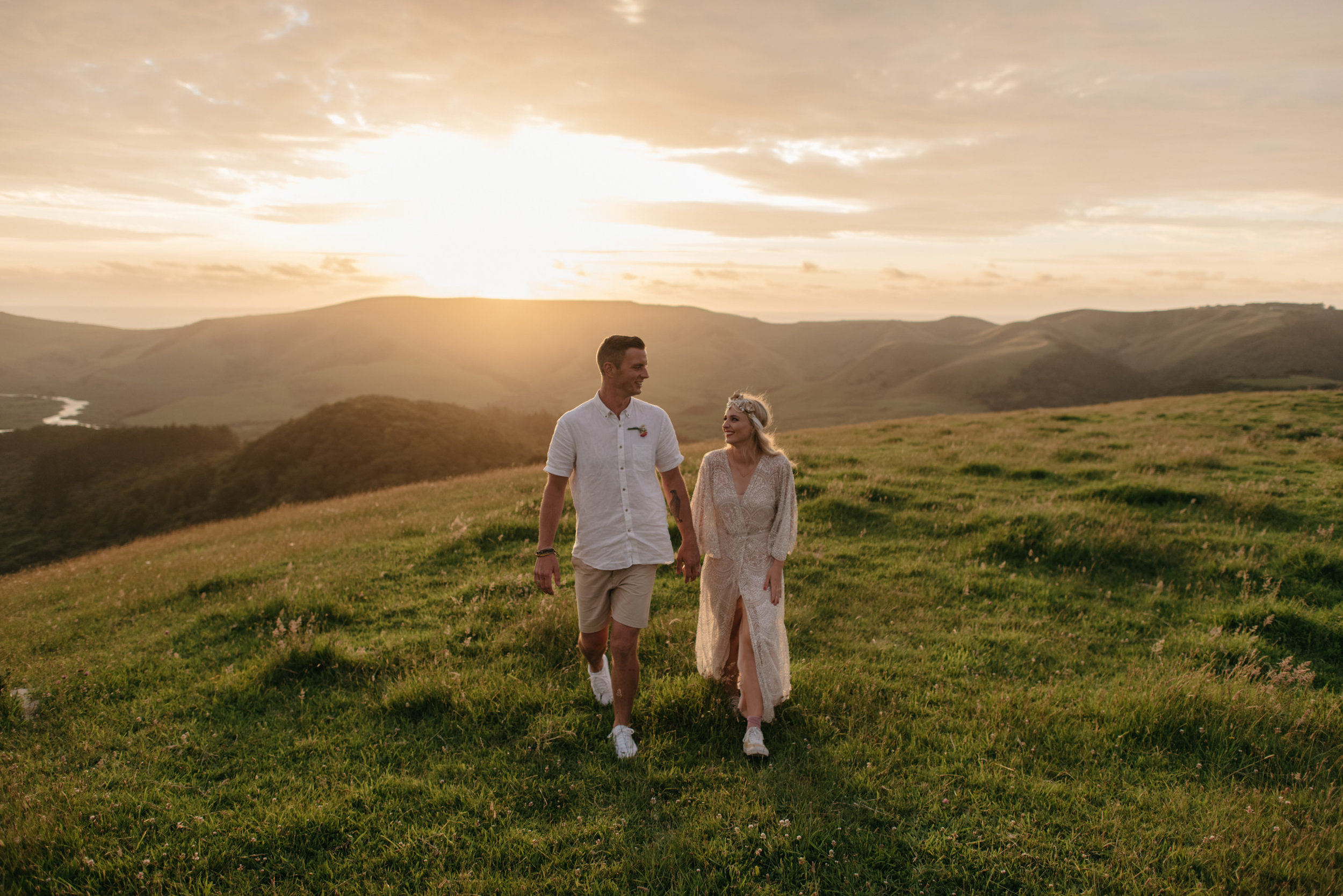 Josie and Ryan EPHEMERAL CREATIVE Jonkers Farm New Zealand Wedding golden hour portrait