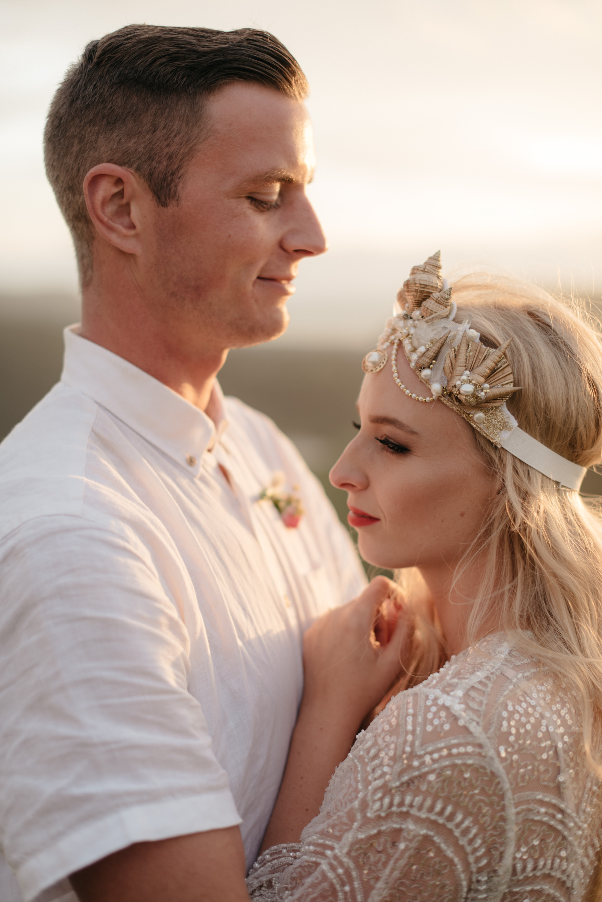 Josie and Ryan EPHEMERAL CREATIVE Jonkers Farm New Zealand Wedding bridal headpiece
