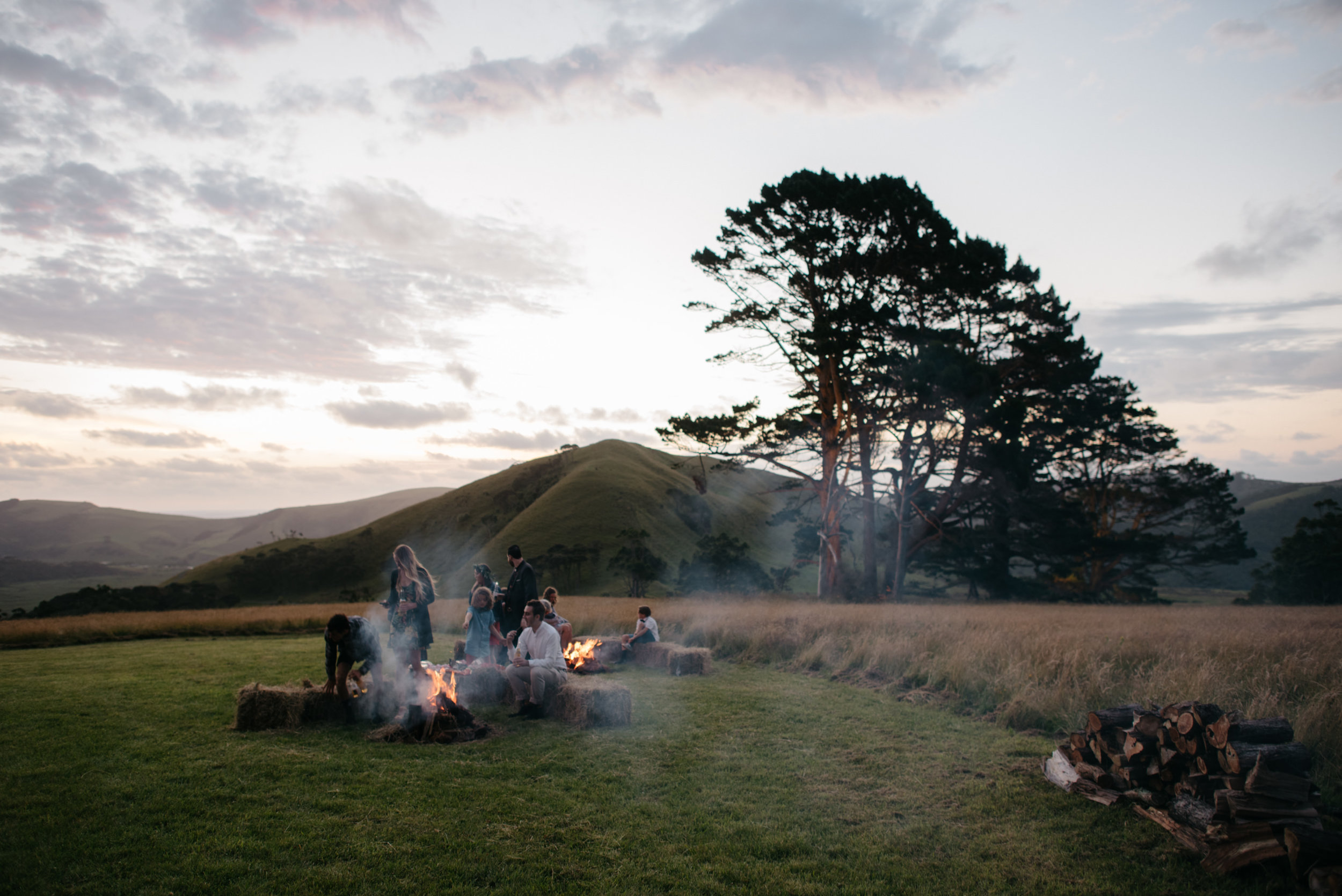 Josie and Ryan EPHEMERAL CREATIVE Jonkers Farm New Zealand Wedding campfire vibes