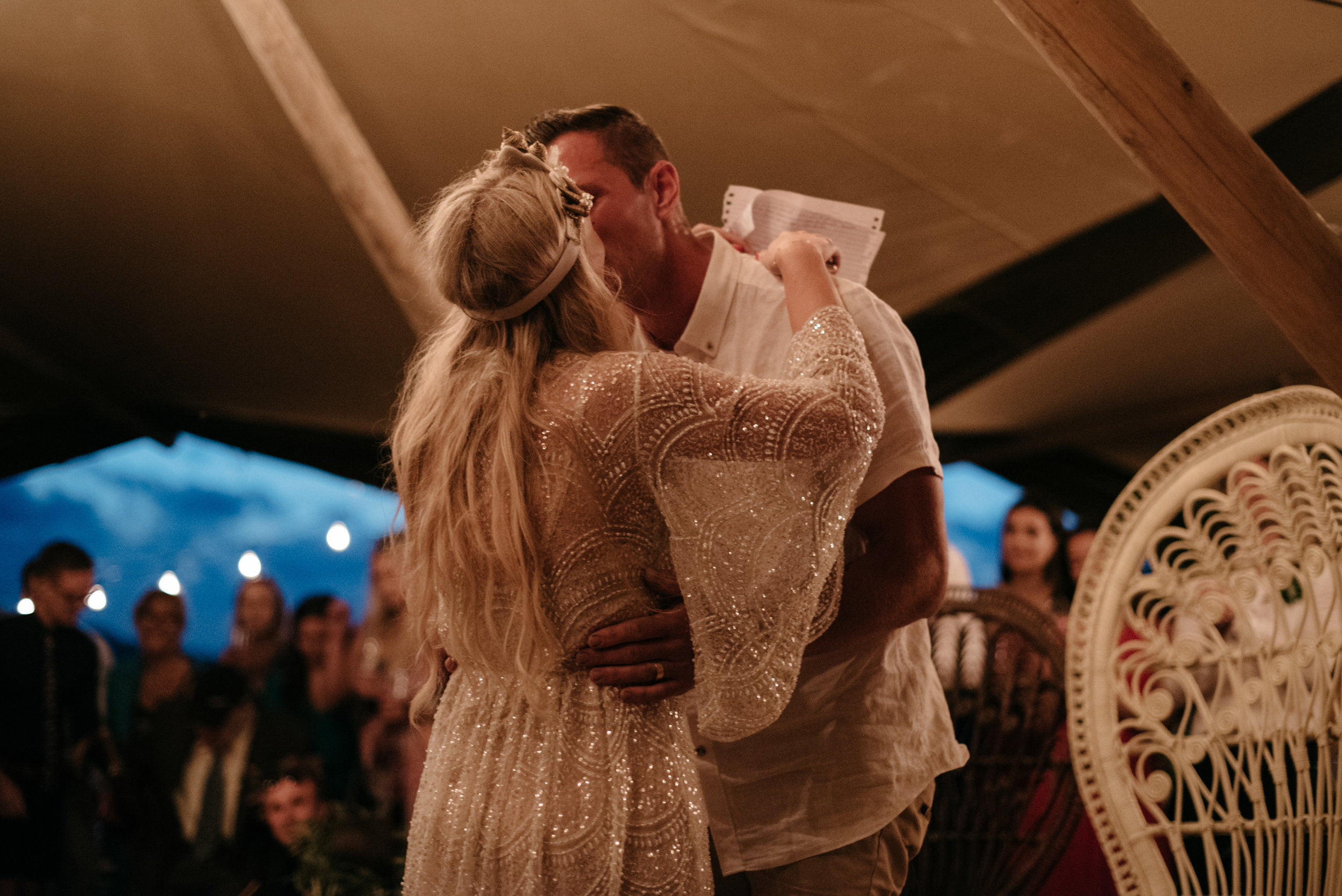 Josie and Ryan EPHEMERAL CREATIVE Jonkers Farm New Zealand Wedding kisses