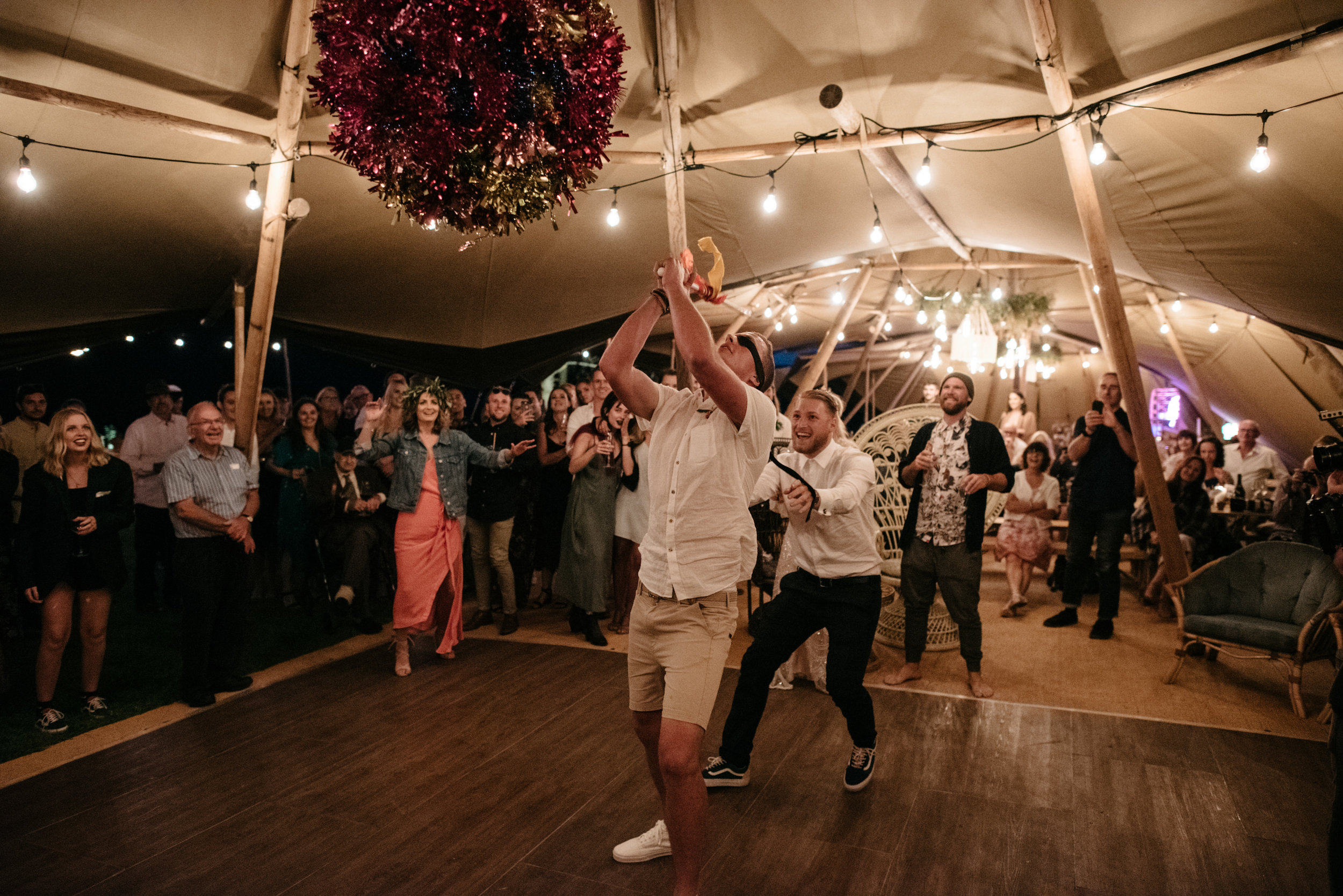 Josie and Ryan EPHEMERAL CREATIVE Jonkers Farm New Zealand Wedding Piñata