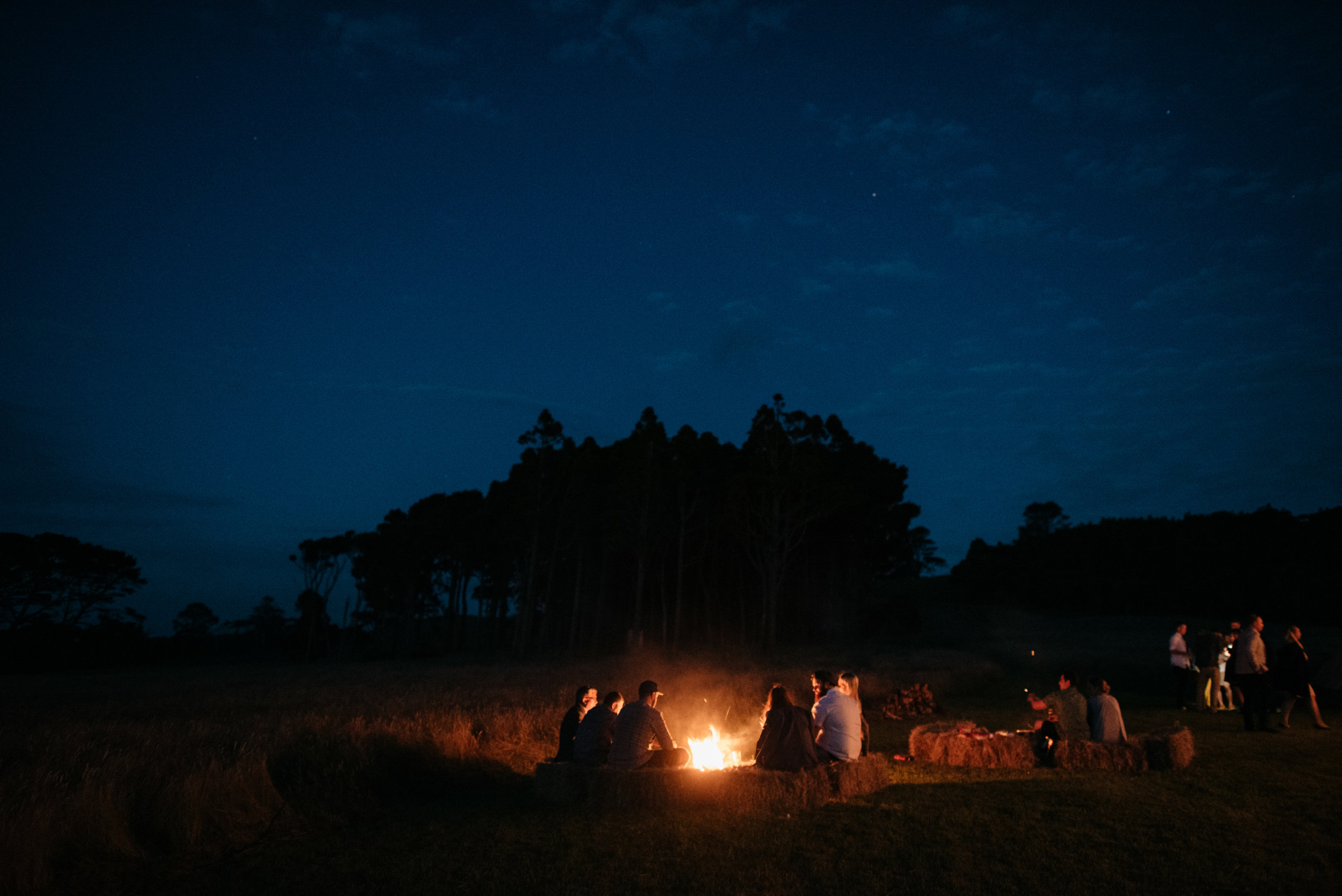 Josie and Ryan EPHEMERAL CREATIVE Jonkers Farm New Zealand Wedding campfire