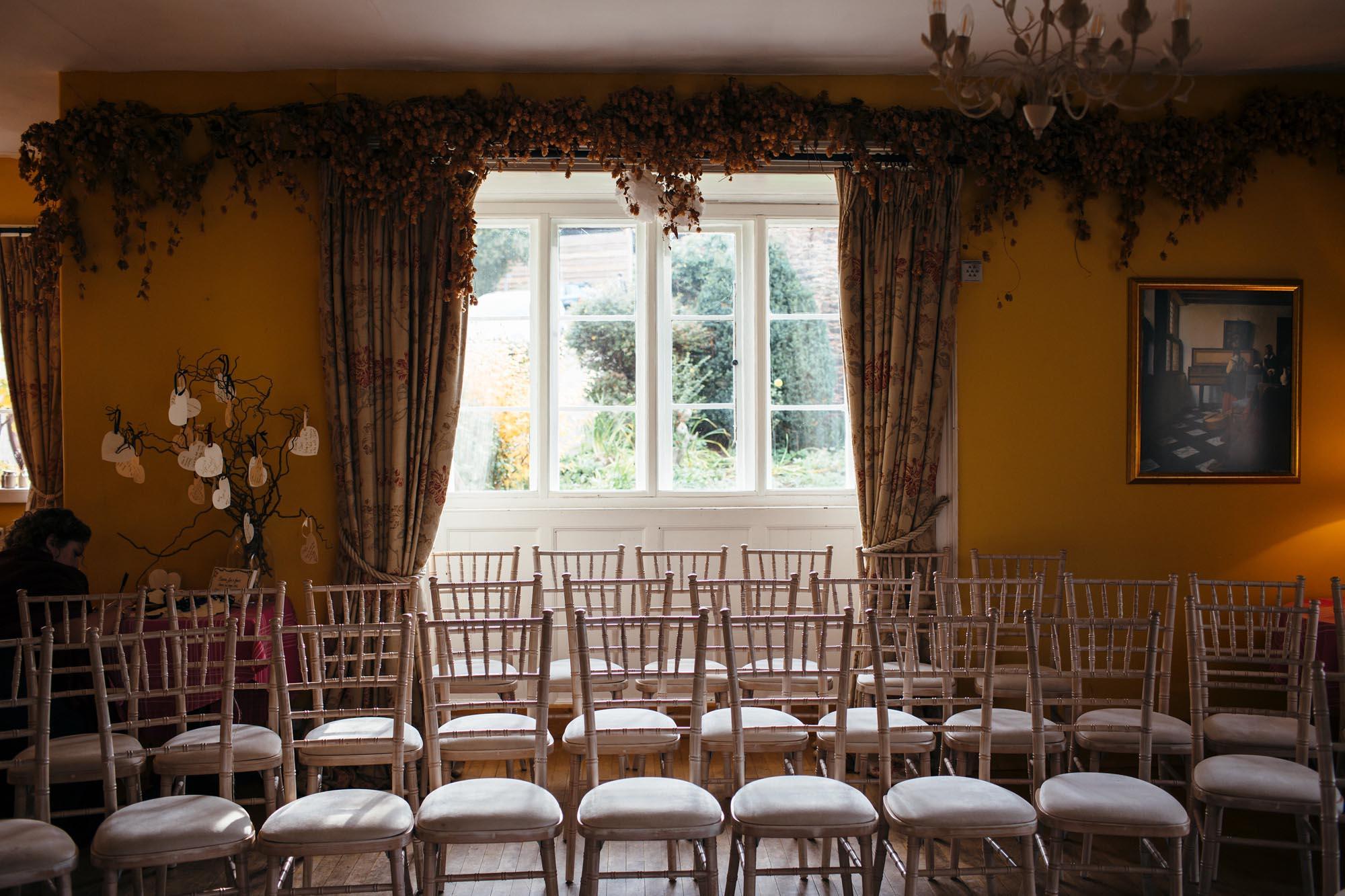 Wedding Ceremony Room at Huntstile Farm
