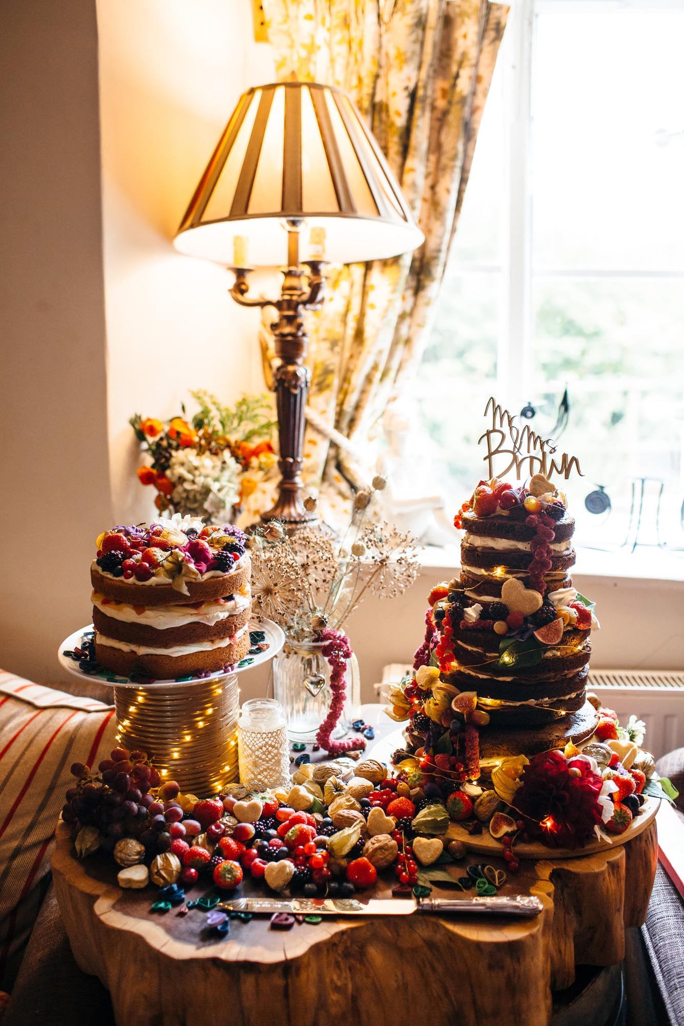 Danie & Callum Wedding Cakes Huntstile Farm