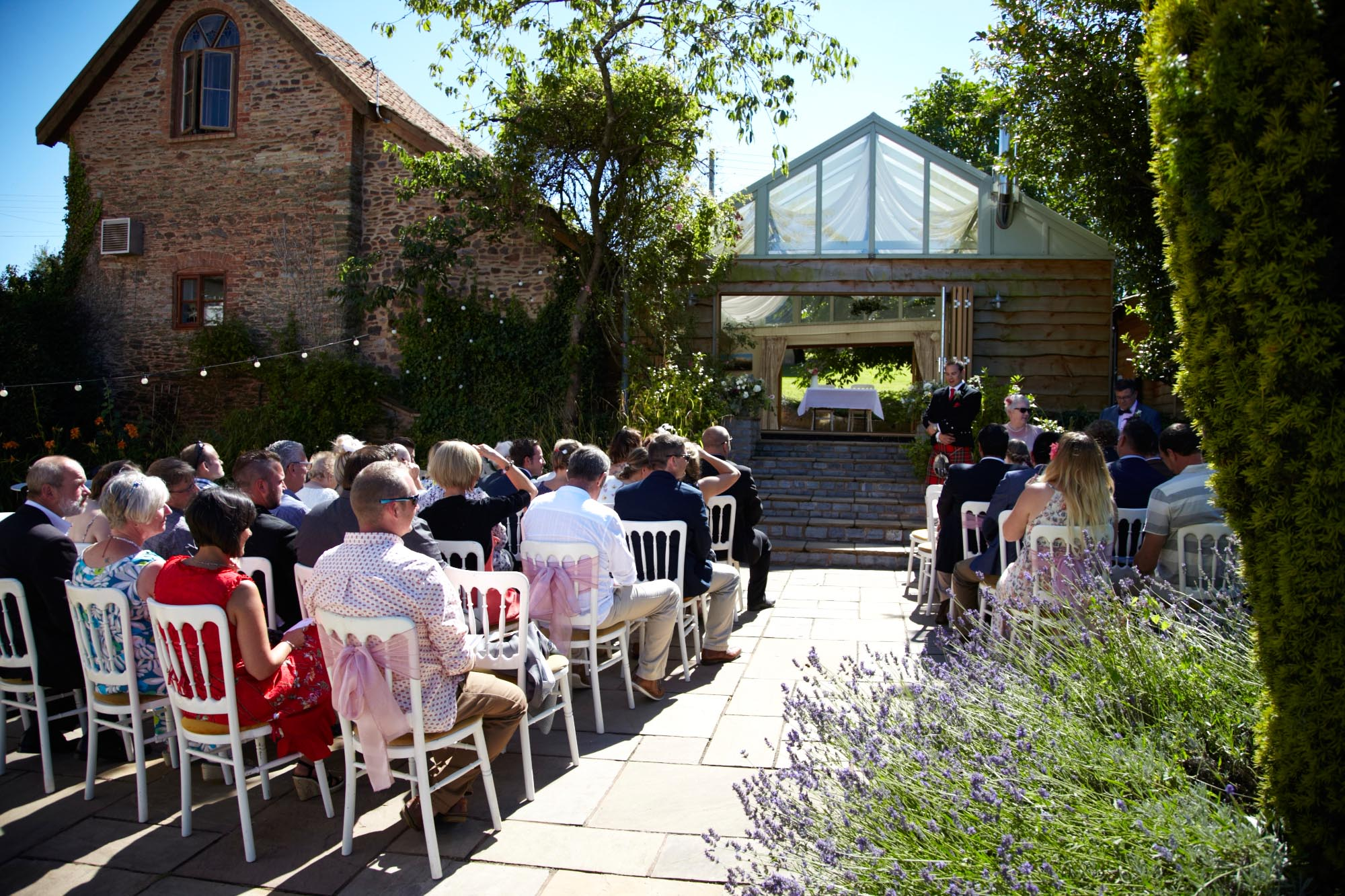Wedding Garden Ceremony Huntstile Farm