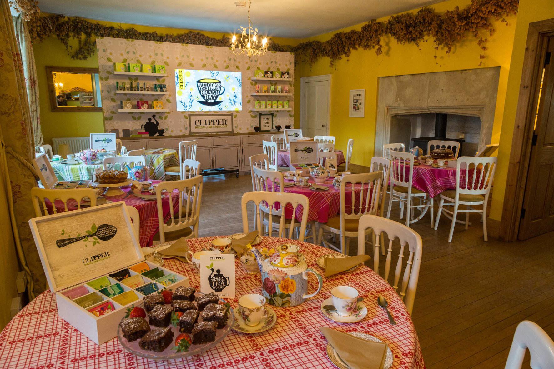 Clipper Teas in the Tea Room at Huntstile Farm