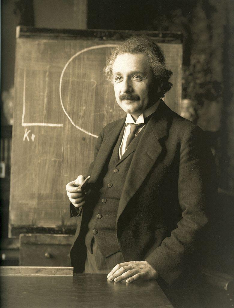 Einstein    Albert Einstein during a lecture in Vienna in 1921.  Contributing photographer: Ferdinand Schmutzer.  Austria January 1st 1921.