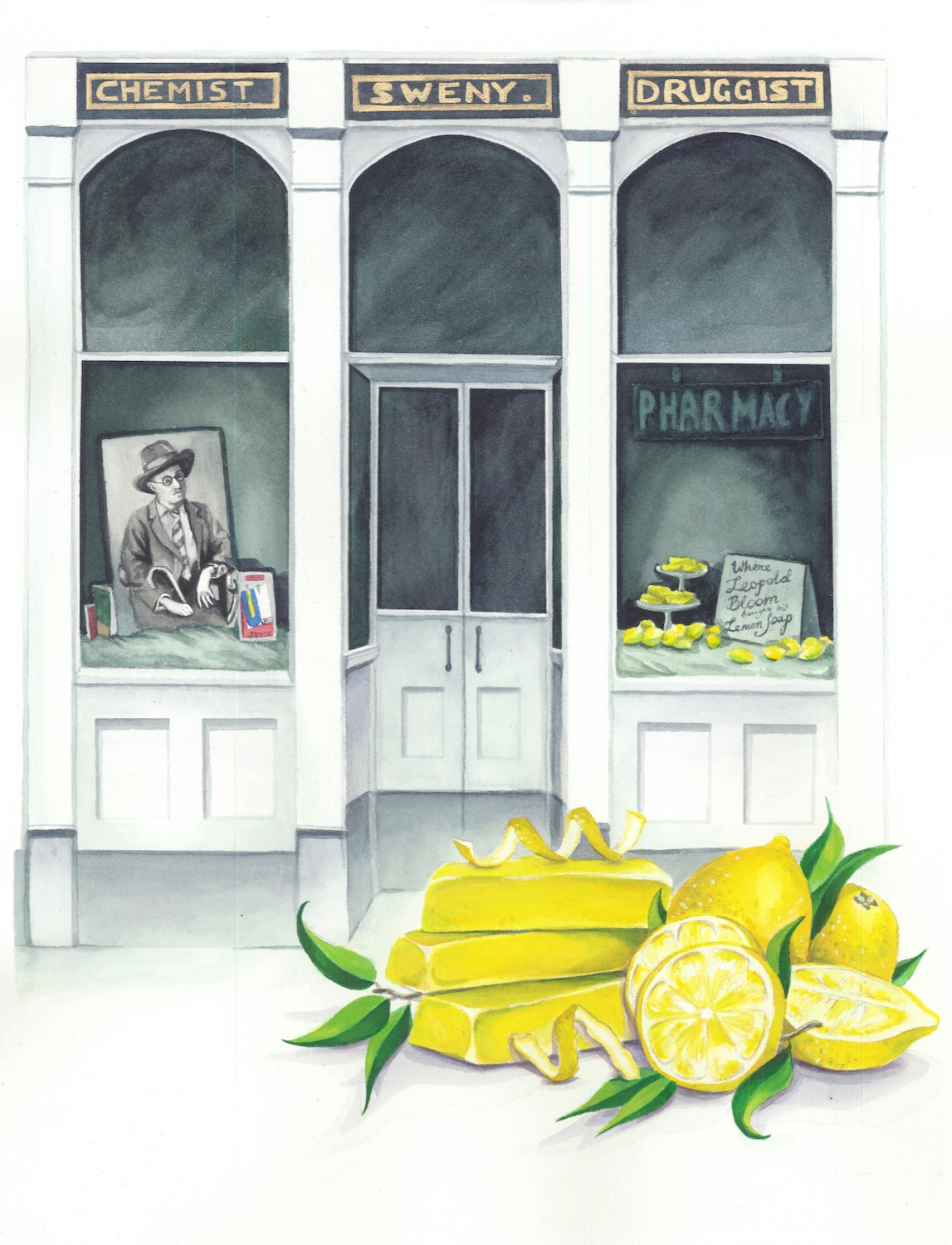 Where Leopold Bloom Bought His Lemon Soap  watercolor on paper