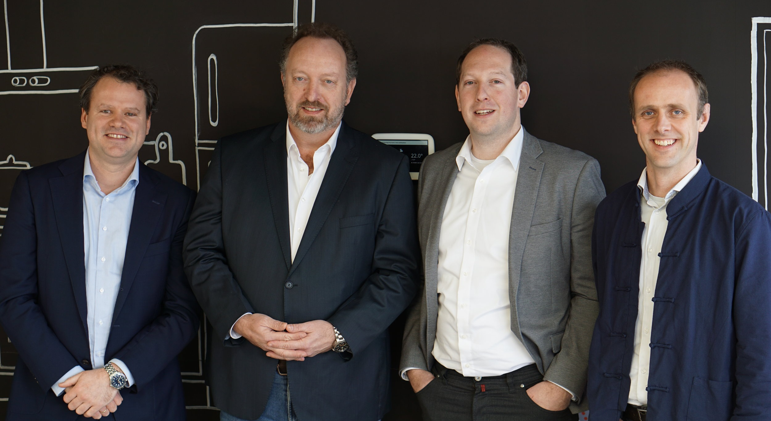 From left to right: Wicher de Groot (CCO), Dick van Driel (CEO), Mark Verhoeven (CFO) and Jorrit van der Laan (COO)