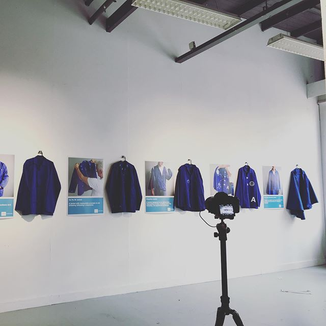 """Enable Jackets for Ok Dementia with London based artist and designer Pascal Anson @iampascalanson are ready ! . Come to try them on tomorrow 19th Oct at TAC Dutch Design Week 2019  in Eindhoven #dementia #dementiagoing #awareness #designresearch #designparticipantion #"""" Enable Jackets: OK Dementia"""" What can design do with our Super Ageing Society? DEMENTIA GOING TM ( 腦化城市), from Hong Kong and beyond Date : 19 - 28 Oct 2019 Venue : TAC, Vonderweg 1, 5611 BK Eindhoven For more information : https://www.ddw.nl/en/programme/1712/enable-jackets-ok-dementia  For DDW 2019, Enable Foundation collaborates with London-based designer, Pascal Anson to create a series of Dementia Jackets to explore further how design objects can inspire everyone to be creative and open-minded with Dementia in our future super ageing society."""