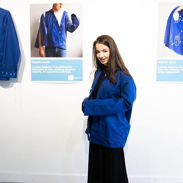 """We are opened ! Come to try our Enable Jackets for Dementia, we collaborated with London based artist and designer @iampascalanson in TAC, Eindhoven. #dutchdesignweek2019 #dementiaawareness #whatdesigncando """"Enable Jackets: OK Dementia"""" What can design do with our Super Ageing Society? DEMENTIA GOING TM ( 腦化城市), from Hong Kong and beyond Date : 19 - 26 Oct 2019 Venue : TAC, Vonderweg 1, 5611 BK Eindhoven For more information : https://www.ddw.nl/en/programme/1712/enable-jackets-ok-dementia"""