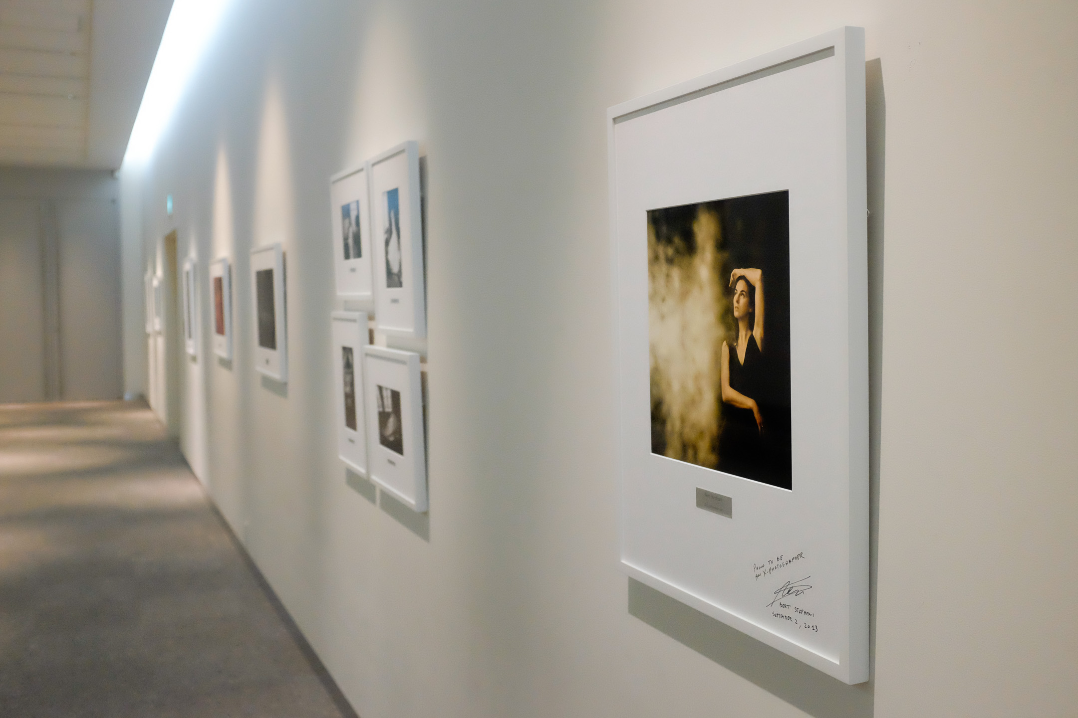 Fujifilm X100S - 1/600 - f/2.8 - iso6400 To our big surprise we saw some of our own images presented in the hallways of Fuji HQ