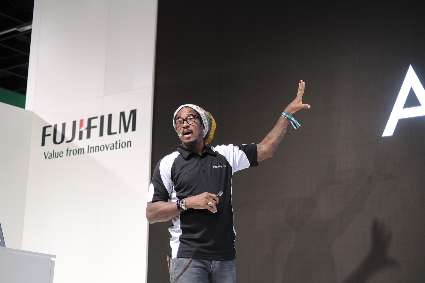 Rudy Roye  on the Fujifilm stage