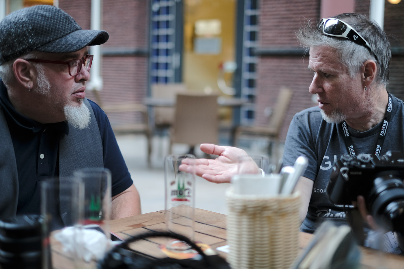 legends  Zack Arias  and  Patrick LaRoque  in an intense conversation about photography (honestly they were just nerding out about being able to talk to their watches like  David Hasselhof .