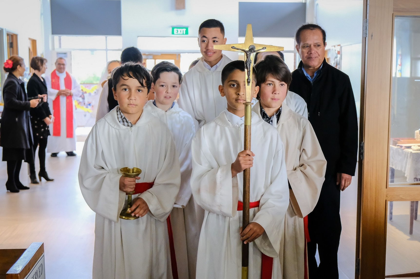 Altar Servers Group - A number of our young parishioners provide invaluable support to our Parish Priest during the masses.