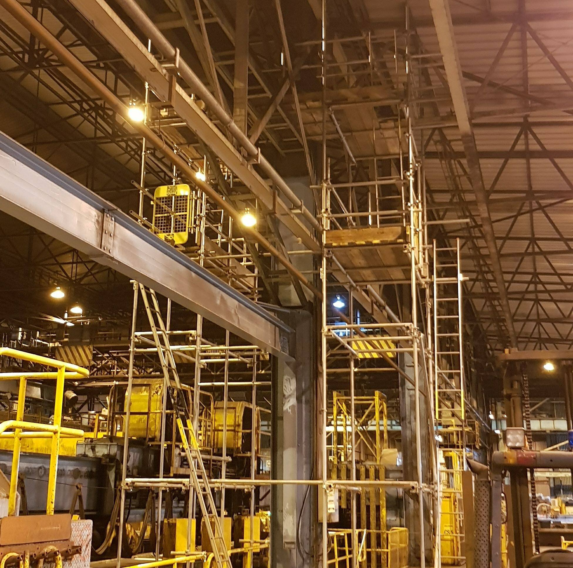 industrial factory scaffold quality and safe