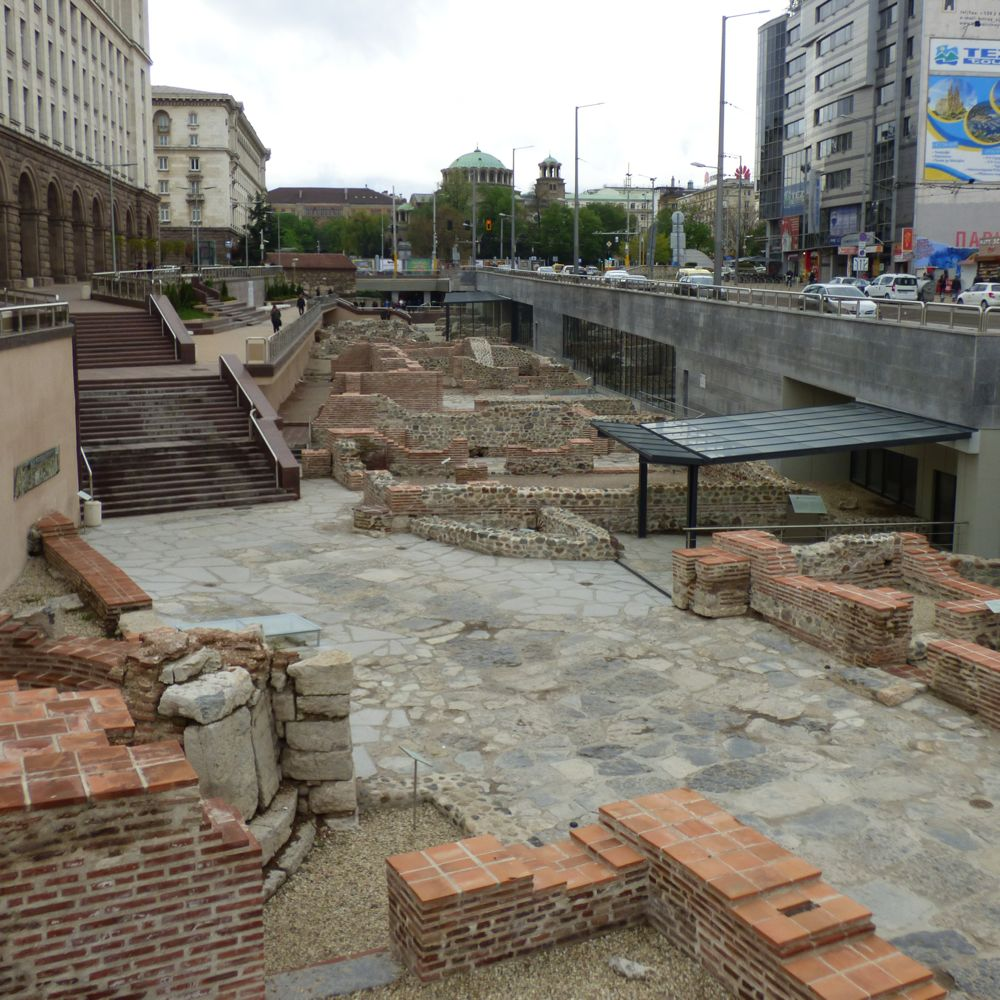 Ruins of the ancient city Serdica (1st - 6th c.) found below Bulgaria's modern capital, Sofia
