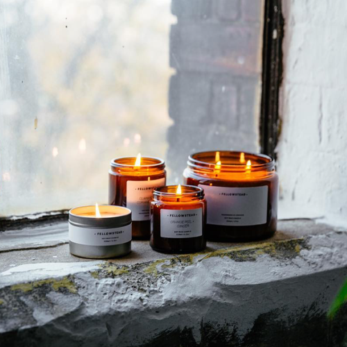 Fellowstead - Small batch, hand poured, soy wax candle company. Made locally in Peckham, London.