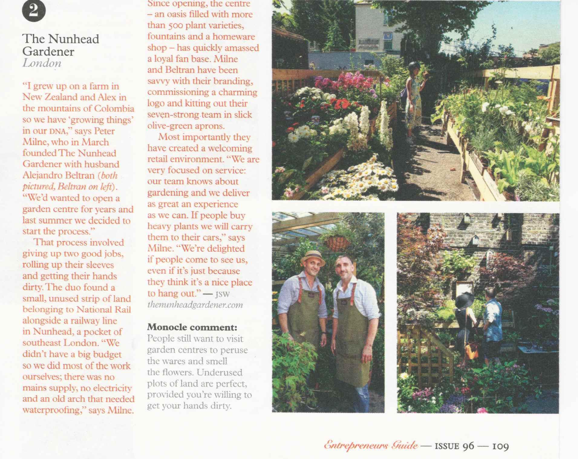 The Nunhead Gardener - Monacle Magazine