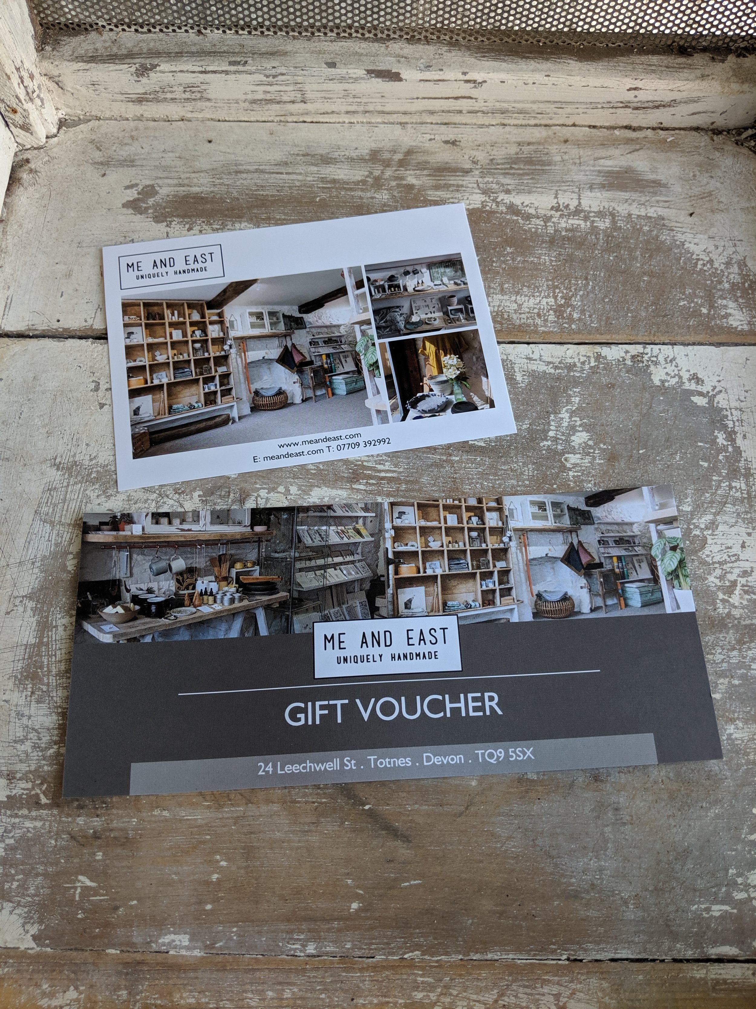 Me and East gift voucher