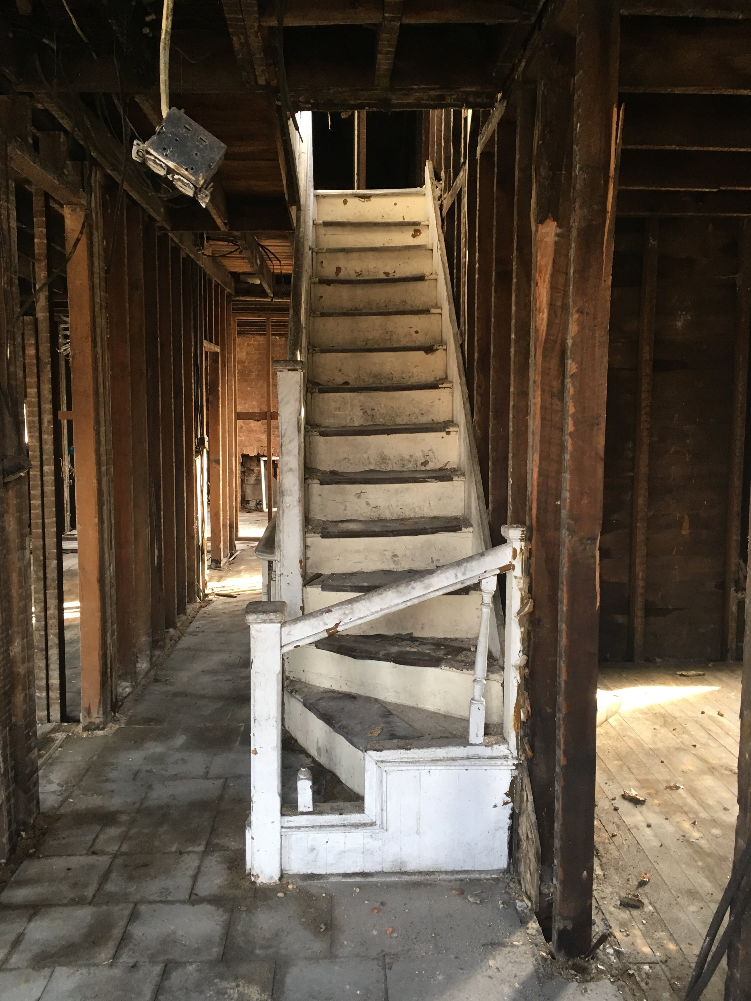 Before: the second floor stairs.