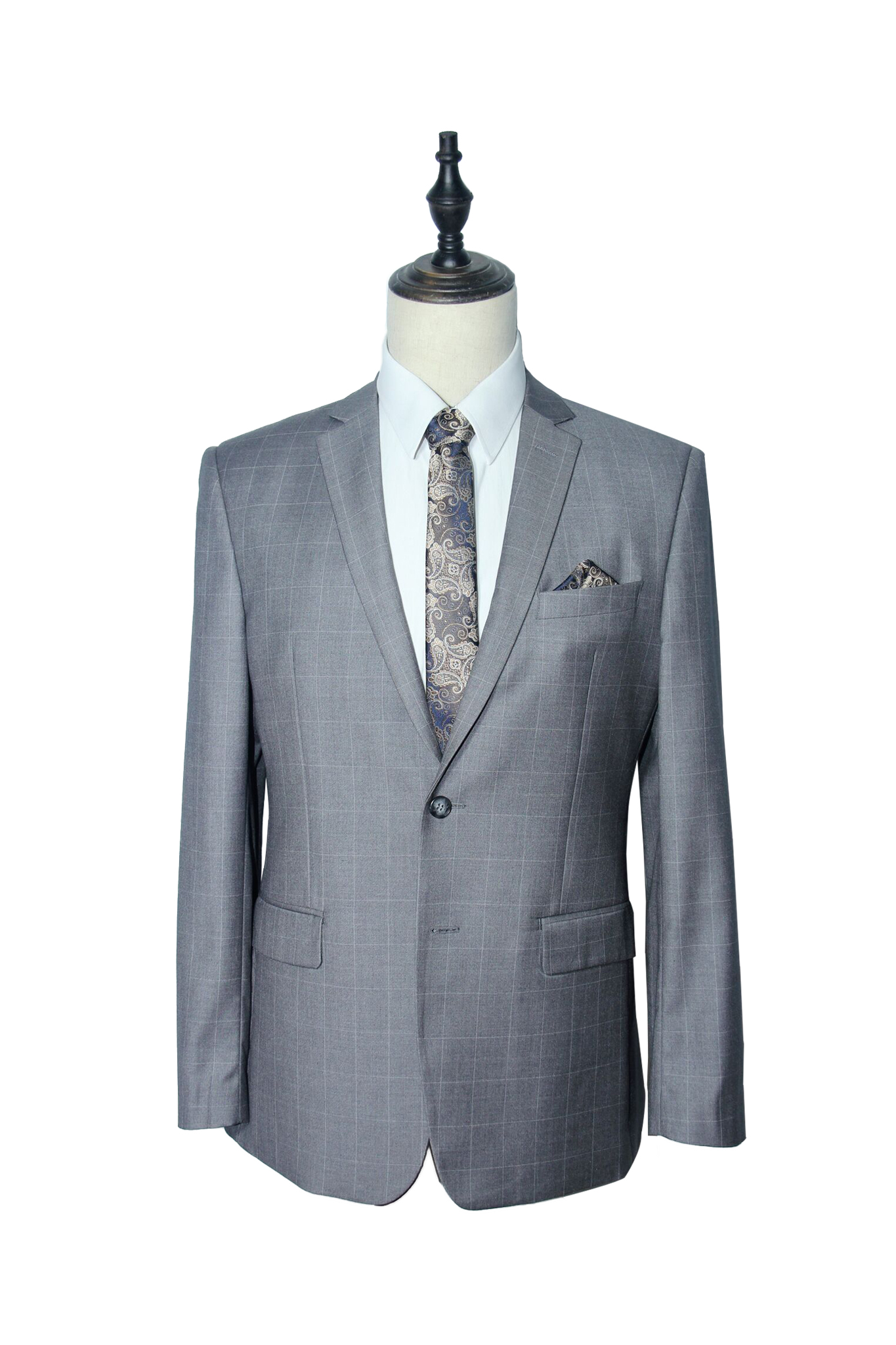 Classic Light Grey Windowpane Suit (F221-235).jpg