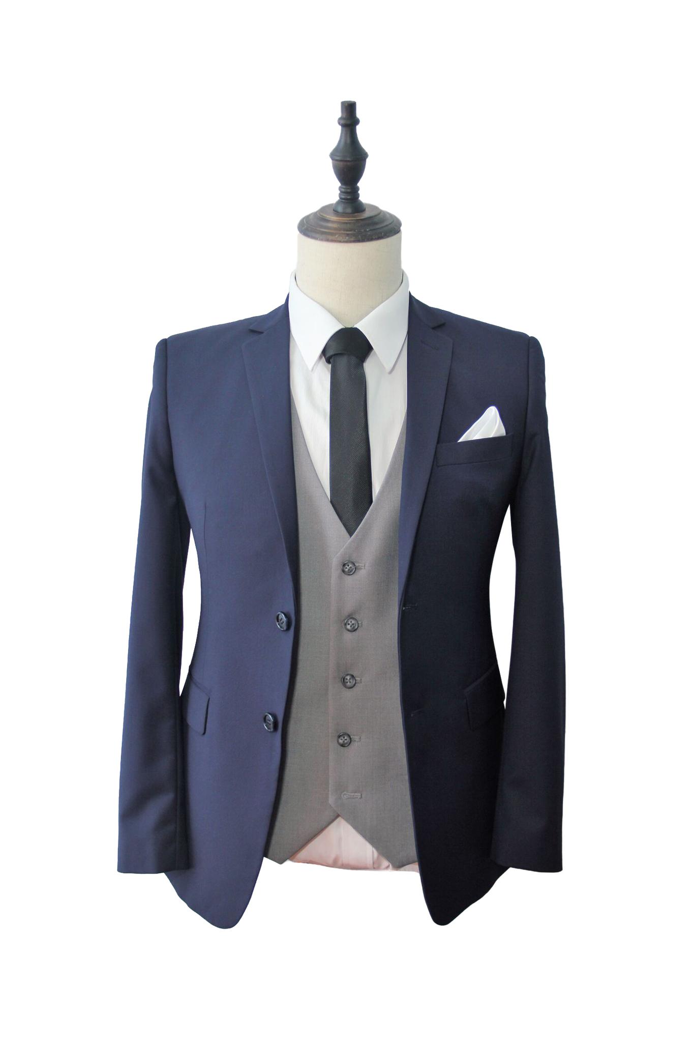 Finest Deep Indigo Suit (K662805) & Premium Grey Vest(LX826310).jpg