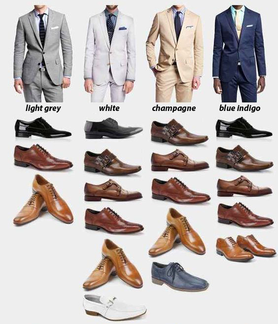 a visual guide: matching suits \u0026 shoes