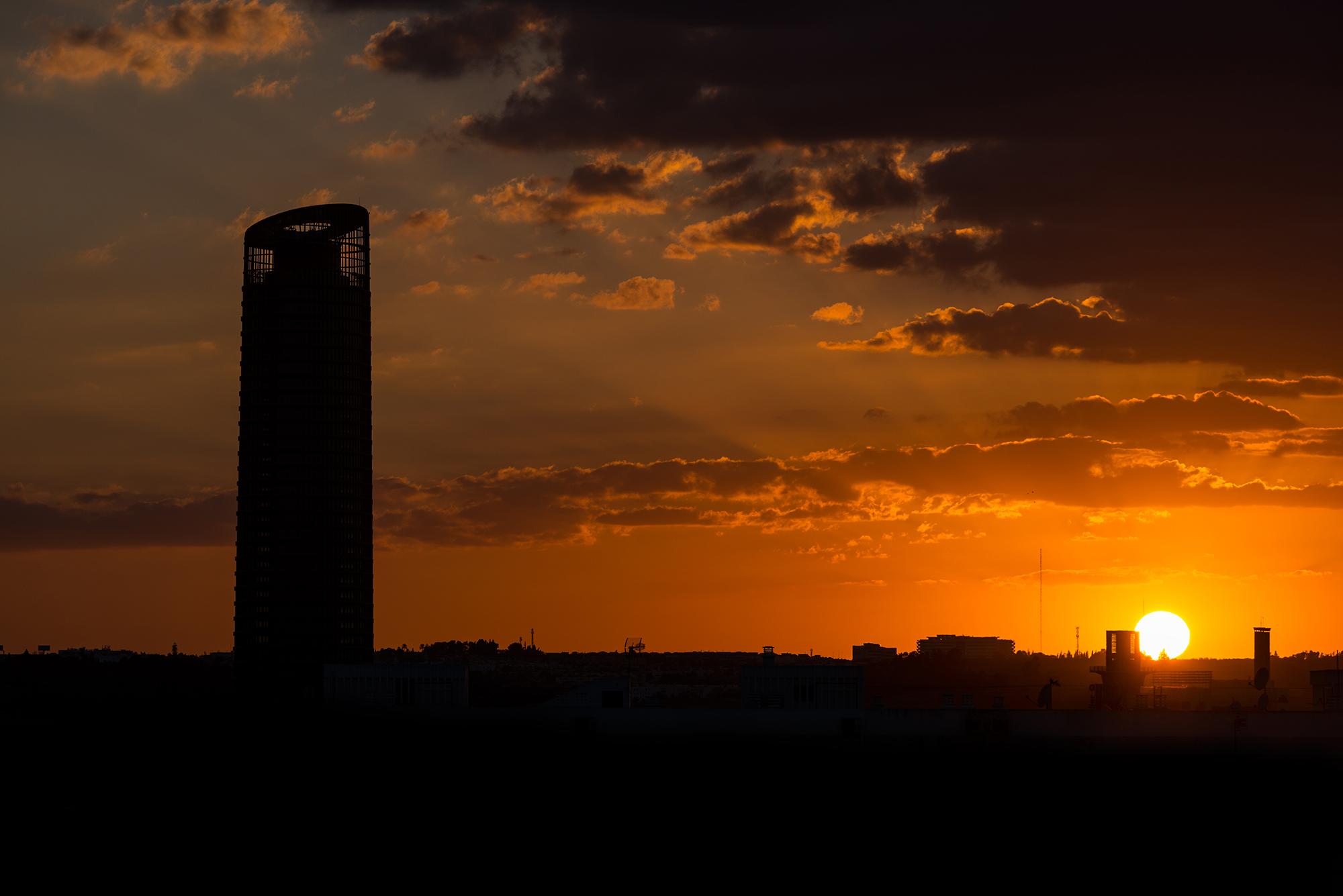 Orange sunset in Seville