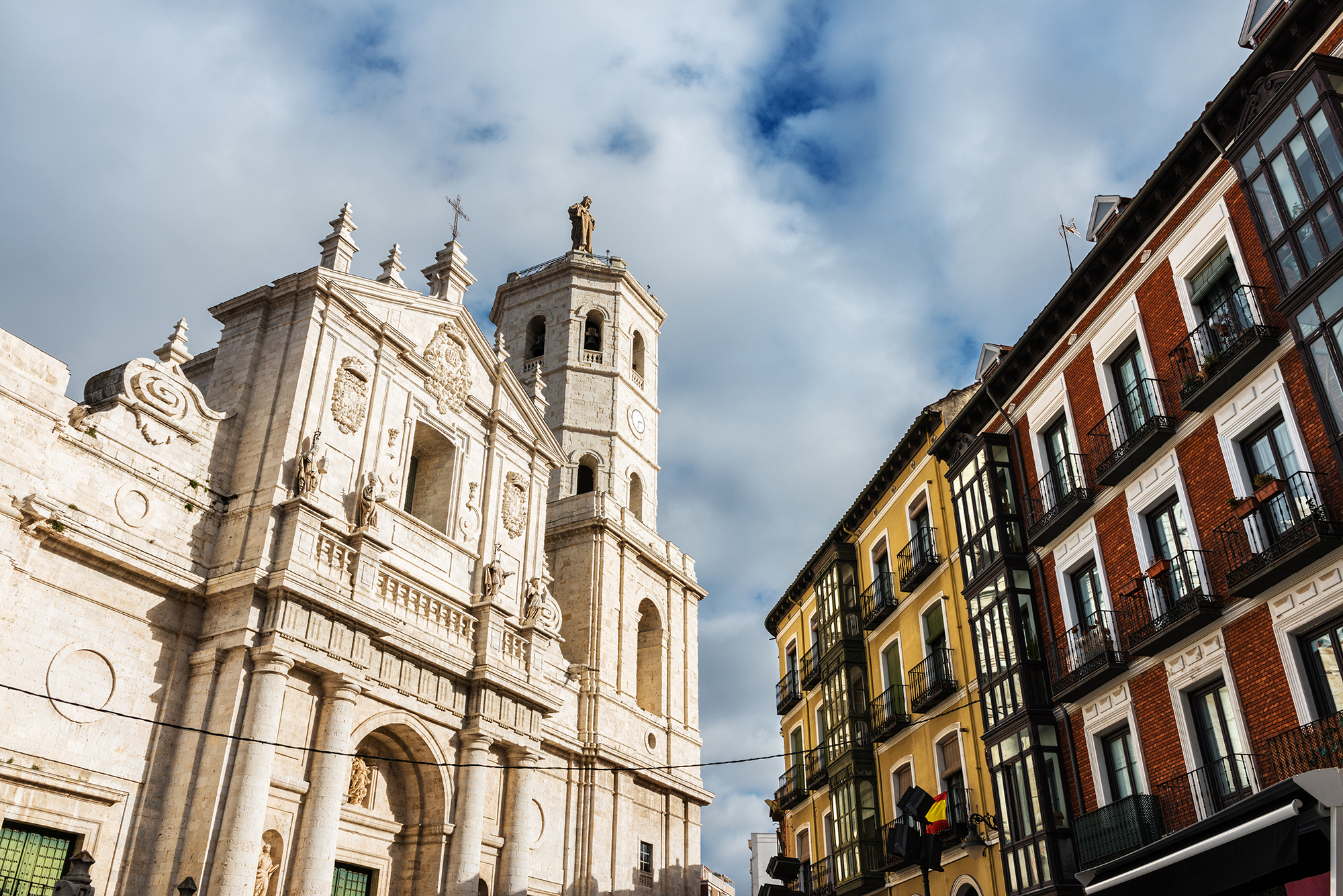Facade and tower of the Cathedral of Valladolid
