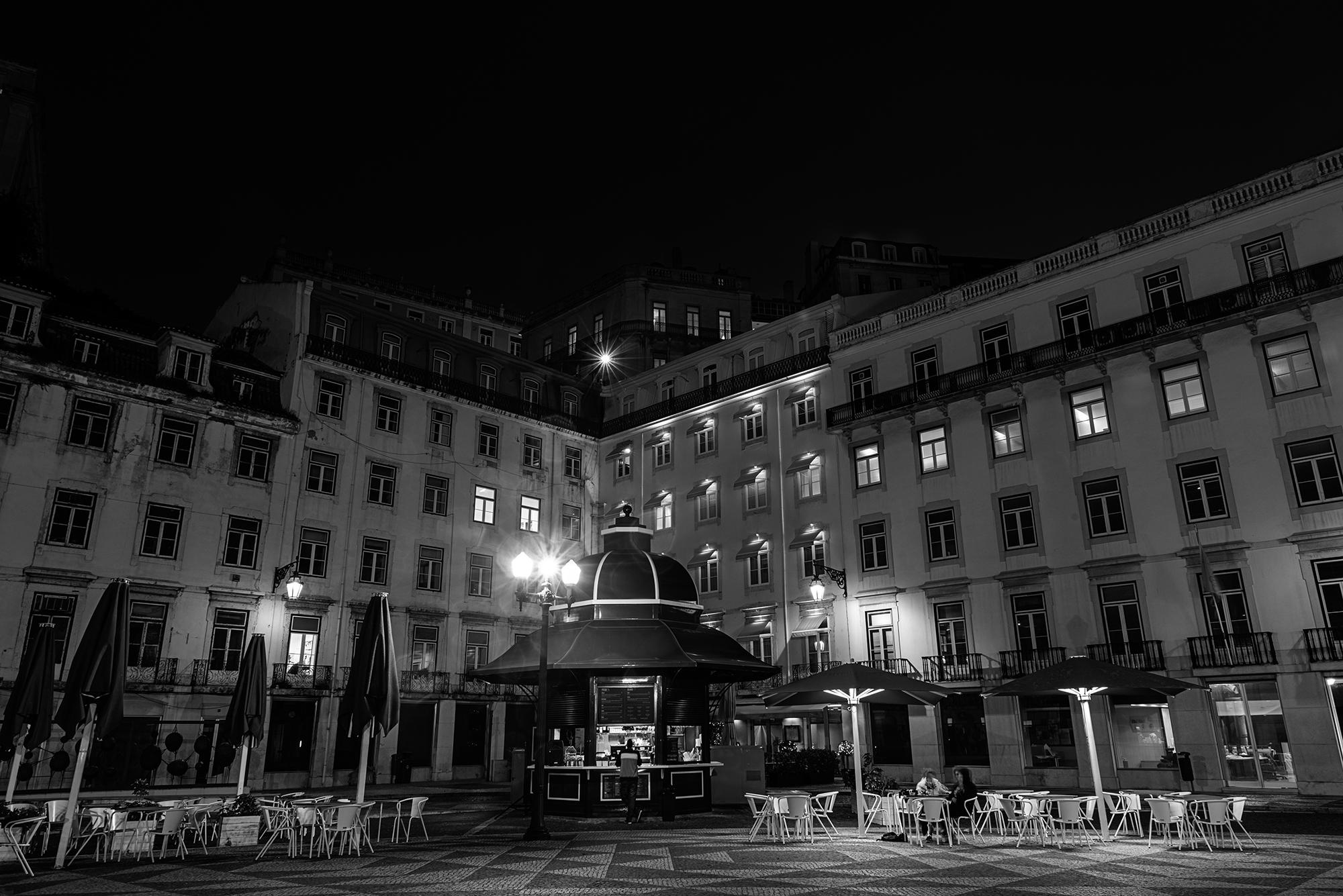 Praça do Municipio square at night