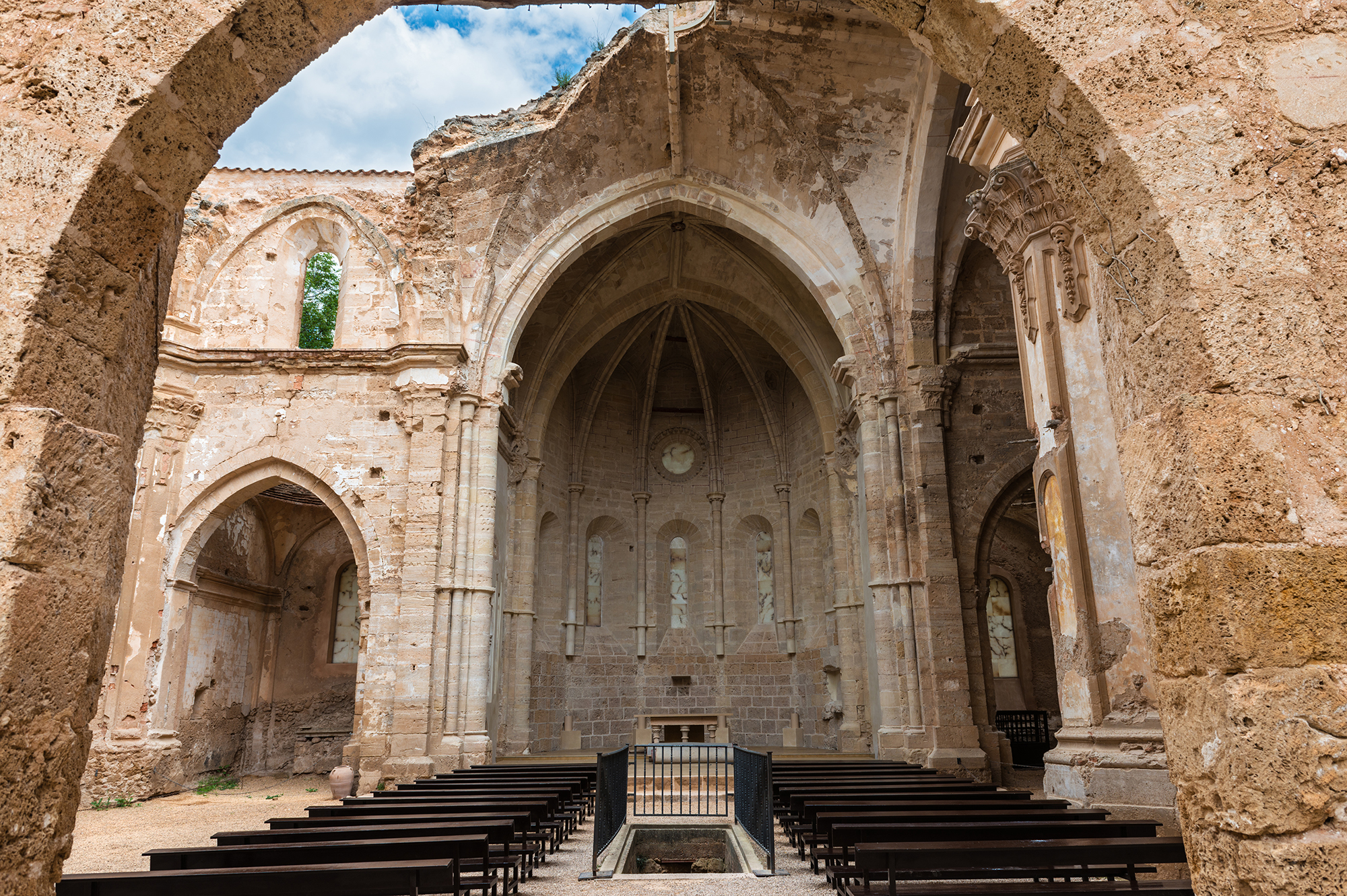 Ruins of the church of the Monastery of Piedra